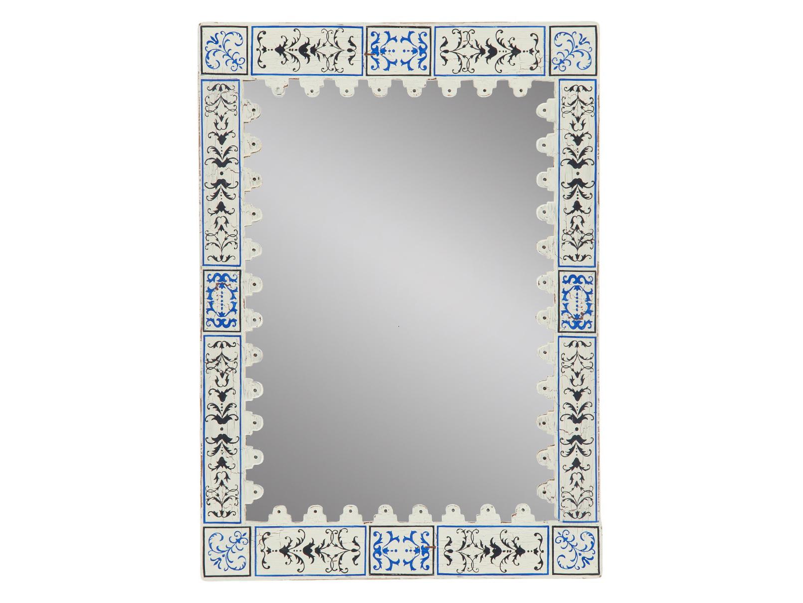ЗеркалоНастенные зеркала<br>Зеркало в раме из дерева махагони, украшенной ручной росписью (рисунок Венеция) и старением.<br><br>Material: Красное дерево<br>Ширина см: 90<br>Высота см: 125<br>Глубина см: 3