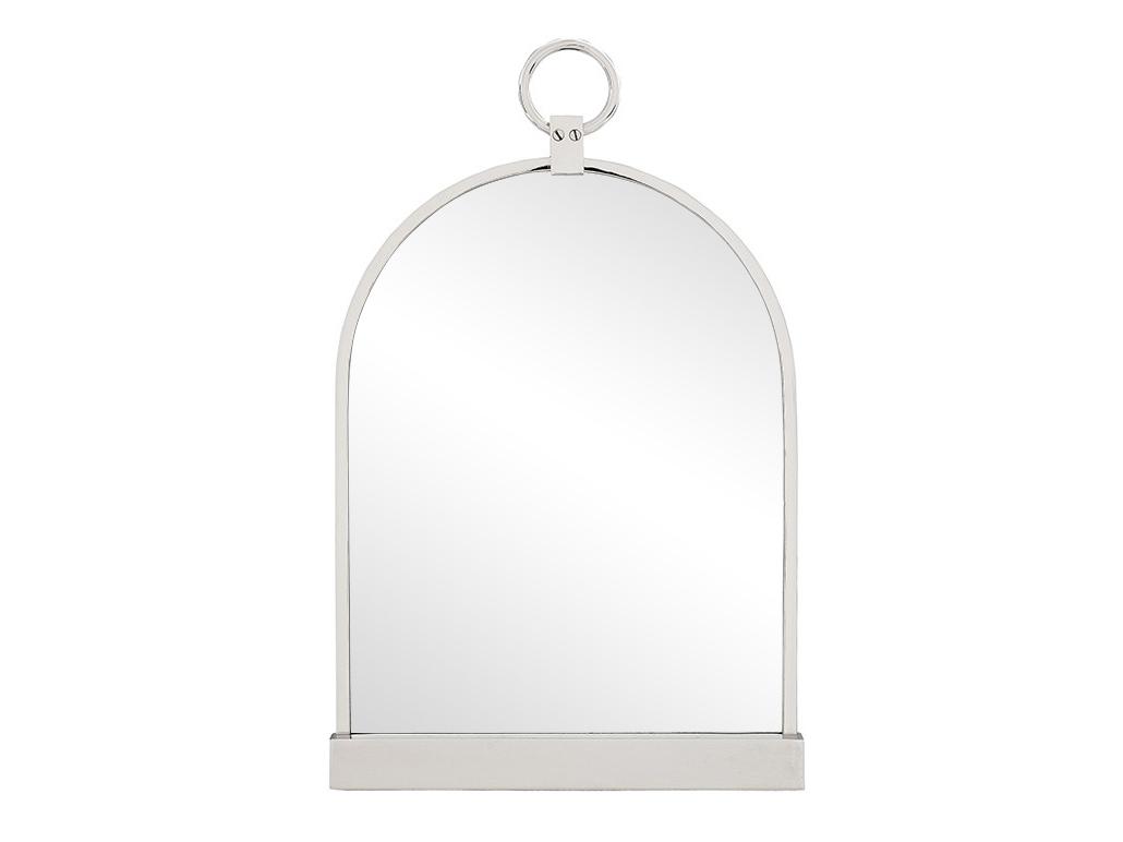 ЗеркалоНастольные зеркала<br>Mirror Paris Modern - подвесное зеркало. Рама металлическая, цвет - светлый никель.<br><br>Material: Металл<br>Ширина см: 36<br>Высота см: 57<br>Глубина см: 4