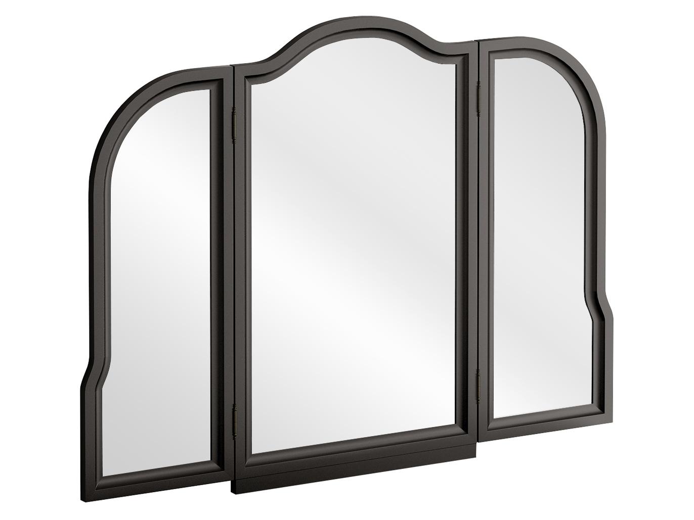 Трельяж BluesНастенные зеркала<br>&amp;lt;div&amp;gt;Трельяж Blues представляет собой настенное зеркало с двумя распашными створками. Зеркала фигурные, рамочно-филенчатой конструкции. Трельяж необходимо крепить к стене.&amp;lt;/div&amp;gt;&amp;lt;div&amp;gt;&amp;lt;br&amp;gt;&amp;lt;/div&amp;gt;&amp;lt;div&amp;gt;Материалы:&amp;lt;/div&amp;gt;&amp;lt;div&amp;gt;Корпус: МДФ, ЛДСП 25 мм и 6 мм, окрашенная в чёрный цвет&amp;lt;/div&amp;gt;<br><br>Material: МДФ<br>Ширина см: 128<br>Высота см: 97<br>Глубина см: 25