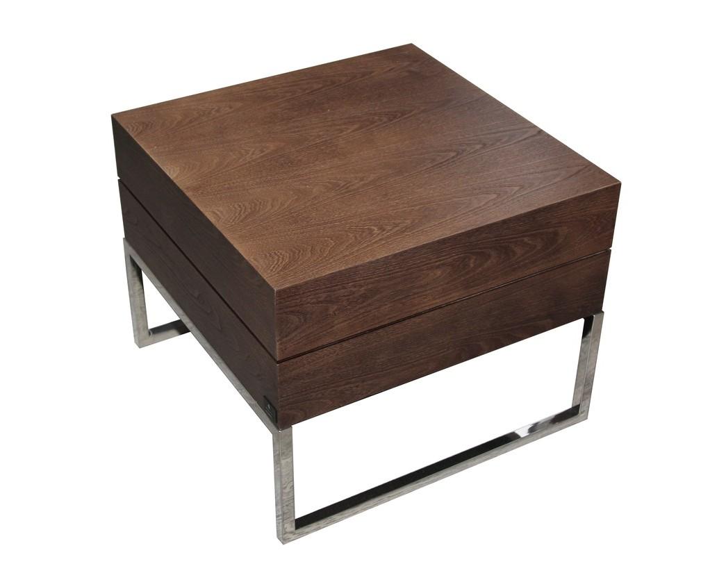 Столик VisionПриставные столики<br>Этот компактный и стильный приставной столик является воплощением современного дизайна и новейших мебельных технологий. Имеет подчеркнутую строгость линий и элегантный внешний вид. Выполнен из экологически чистых материалов, натуральный шпон, цвет — темный вяз. Может использоваться как столик для кофе в гостиной, в приемной офиса, в прихожей, а также в качестве прикроватной тумбы.<br><br>Material: МДФ<br>Ширина см: 60<br>Высота см: 48