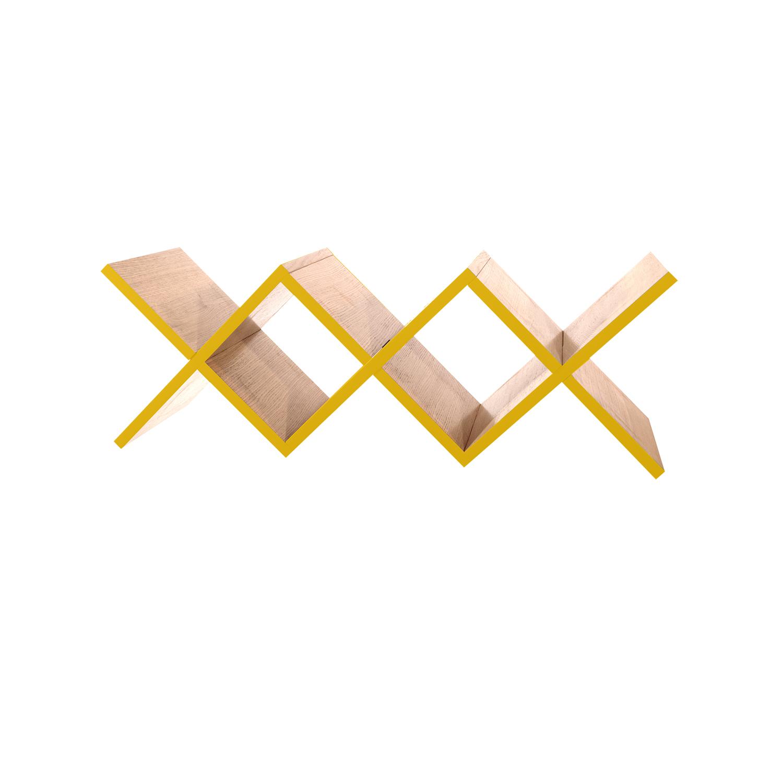 Полка для гостиной Woo ShelfПолки<br>&amp;lt;div&amp;gt;Необычная конструкция книжной полки Woo Shelf позволяет легко размещать ее как на стене, так и на горизонтальной поверхности. Книжная полка прекрасно подходит для хранения книг или других предметов.&amp;amp;nbsp;&amp;lt;/div&amp;gt;&amp;lt;div&amp;gt;&amp;lt;br&amp;gt;&amp;lt;/div&amp;gt;&amp;lt;div&amp;gt;Полка изготовлена из МДФ и покрыта натуральным дубовым шпоном, торцы полки окрашены в цвета из палитры Woodi Furniture. Woo Shelf представлена в двух размерах.&amp;amp;nbsp;&amp;lt;/div&amp;gt;&amp;lt;div&amp;gt;&amp;lt;br&amp;gt;&amp;lt;/div&amp;gt;&amp;lt;div&amp;gt;&amp;lt;br&amp;gt;&amp;lt;/div&amp;gt;<br><br>Material: МДФ<br>Ширина см: 120.0<br>Высота см: 30.0<br>Глубина см: 30.0