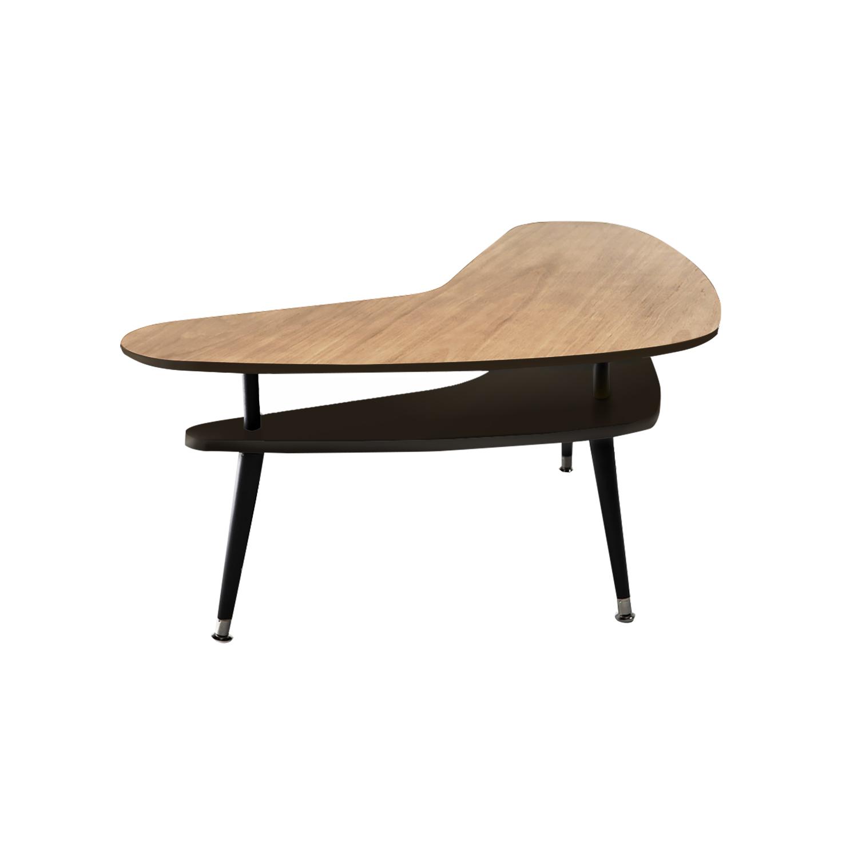 Журнальный столик БумерангЖурнальные столики<br>&amp;lt;div&amp;gt;&amp;lt;div style=&amp;quot;font-size: 14px;&amp;quot;&amp;gt;Журнальный столик Бумеранг – классический кофейный столик в стиле 50-х годов. Двухуровневая столешница делает его более вместительным, нежели журнальные столики с одной столешницей, при этом журнальный столик Бумеранг остается достаточно компактным и легко размещается рядом с креслом или диваном. Журнальный столик Бумеранг покрыт высокопрочным лаковым покрытием, что делает его идеальным предметом мебели для ресторанов, кафе и баров, а также для любых других общественных пространств.&amp;amp;nbsp;&amp;lt;/div&amp;gt;&amp;lt;div style=&amp;quot;font-size: 14px;&amp;quot;&amp;gt;&amp;lt;br&amp;gt;&amp;lt;/div&amp;gt;&amp;lt;div style=&amp;quot;font-size: 14px;&amp;quot;&amp;gt;Ножки конической формы, выполненные из массива бука, окрашены в черный цвет, нижняя часть ножек украшена металлическими наконечниками стального цвета. Верхнюю столешницу, изготовленную из МДФ, сверху покрывает натуральный дубовый шпон обработанный темной морилкой, нижняя часть и боковой кант окрашены в цвета из палитры Woodi Furniture. Нижняя столешница, изготовленная из МДФ, полностью окрашена в цвета из палитры Woodi Furniture. Журнальный столик Бумеранг может использоваться по отдельности или в комбинации с другими журнальными столиками Woodi Furniture.&amp;lt;/div&amp;gt;&amp;lt;/div&amp;gt;<br><br>Material: МДФ<br>Ширина см: 90.0<br>Высота см: 57.0<br>Глубина см: 67.0