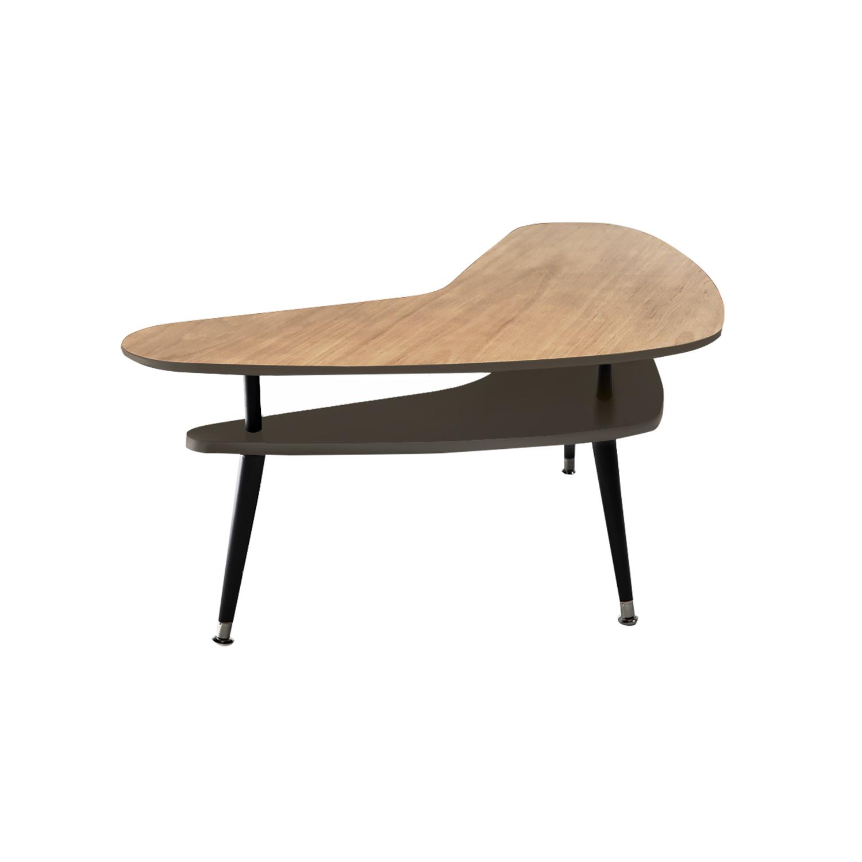 Журнальный столик БумерангЖурнальные столики<br>&amp;lt;div style=&amp;quot;font-size: 14px;&amp;quot;&amp;gt;Журнальный столик Бумеранг – классический кофейный столик в стиле 50-х годов. Двухуровневая столешница делает его более вместительным, нежели журнальные столики с одной столешницей, при этом журнальный столик Бумеранг остается достаточно компактным и легко размещается рядом с креслом или диваном. Журнальный столик Бумеранг покрыт высокопрочным лаковым покрытием, что делает его идеальным предметом мебели для ресторанов, кафе и баров, а также для любых других общественных пространств.&amp;amp;nbsp;&amp;lt;/div&amp;gt;&amp;lt;div style=&amp;quot;font-size: 14px;&amp;quot;&amp;gt;&amp;lt;br&amp;gt;&amp;lt;/div&amp;gt;&amp;lt;div style=&amp;quot;font-size: 14px;&amp;quot;&amp;gt;Ножки конической формы, выполненные из массива бука, окрашены в черный цвет, нижняя часть ножек украшена металлическими наконечниками стального цвета. Верхнюю столешницу, изготовленную из МДФ, сверху покрывает натуральный дубовый шпон обработанный темной морилкой, нижняя часть и боковой кант окрашены в цвета из палитры Woodi Furniture. Нижняя столешница, изготовленная из МДФ, полностью окрашена в цвета из палитры Woodi Furniture. Журнальный столик Бумеранг может использоваться по отдельности или в комбинации с другими журнальными столиками Woodi Furniture.&amp;lt;/div&amp;gt;<br><br>Material: МДФ<br>Ширина см: 90.0<br>Высота см: 57.0<br>Глубина см: 67.0