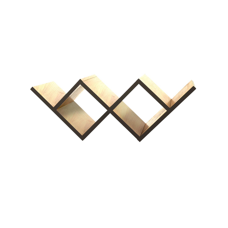 Полка для гостиной Woo ShelfПолки<br>Необычная конструкция книжной полки Woo Shelf позволяет легко размещать ее как на стене, так и на горизонтальной поверхности. Книжная полка прекрасно подходит для хранения книг или других предметов.&amp;nbsp;Полка изготовлена из МДФ и покрыта натуральным дубовым шпоном, торцы полки окрашены в цвета из палитры Woodi Furniture. Woo Shelf представлена в двух размерах.&amp;nbsp;<br><br>kit: None<br>gender: None