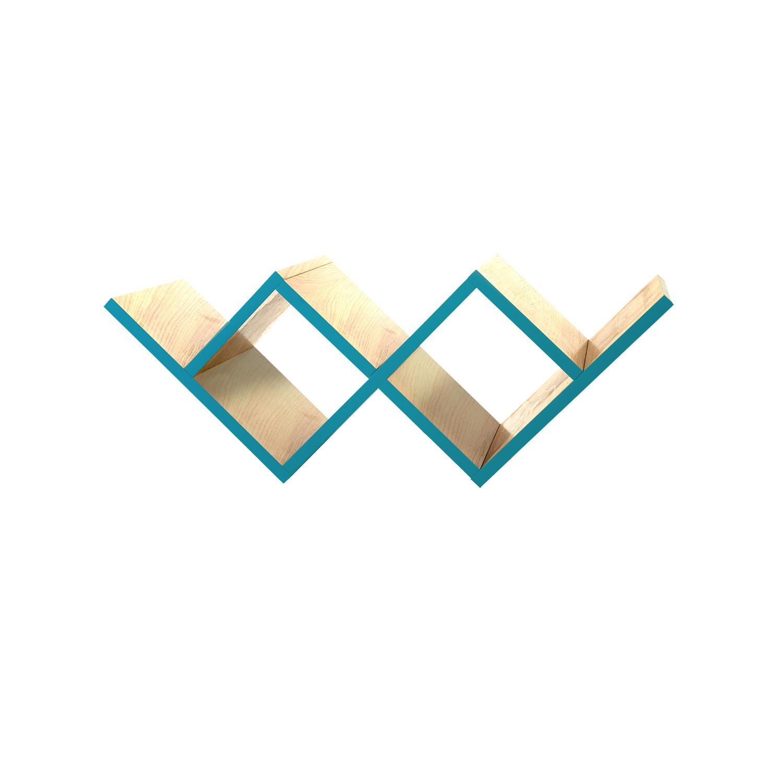 Полка для гостиной Woo ShelfПолки<br>Необычная конструкция книжной полки Woo Shelf позволяет легко размещать ее как на стене, так и на горизонтальной поверхности. Книжная полка прекрасно подходит для хранения книг или других предметов. Полка изготовлена из МДФ и покрыта натуральным дубовым шпоном, торцы полки окрашены в цвета из палитры Woodi Furniture. Woo Shelf представлена в двух размерах.