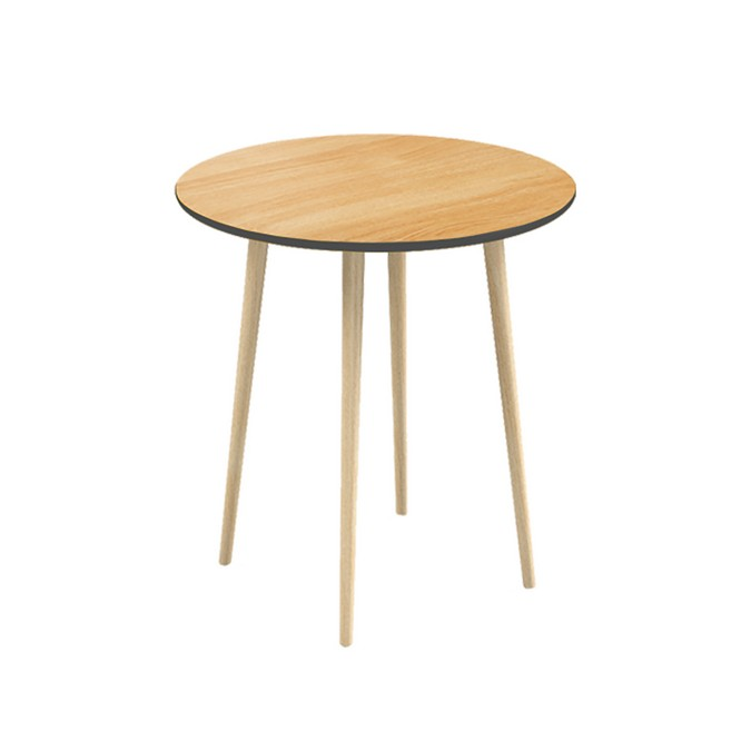 Обеденный стол СпутникОбеденные столы<br>&amp;lt;div&amp;gt;Круглый обеденный стол Спутник – первый обеденный стол в коллекции мебели Woodi Furniture. Стол круглой формы хорошо подойдет для маленькой кухни и помещений с ограниченной площадью, так как не имеет острых углов, что особенно важно, когда в семье есть маленькие дети. Также стоит обратить внимание на стол Спутник, если вы выбираете мебель для кафе и ресторанов. Высокопрочное лаковое покрытие столешницы устойчиво к влаге, что делает Спутник идеальным предметом мебели для ресторанов, кафе и баров, а также для любых других общественных пространств.&amp;amp;nbsp;&amp;lt;/div&amp;gt;&amp;lt;div&amp;gt;&amp;lt;br&amp;gt;&amp;lt;/div&amp;gt;&amp;lt;div&amp;gt;Верхняя часть столешницы, которая изготовлена из МДФ, покрыта натуральным дубовым шпоном, нижняя часть столешницы и боковой кант окрашены в цвета из палитры Woodi Furniture. Четыре устойчивые ножки изготовлены из массива бука и покрыты прозрачным лаковым покрытием. Круглый обеденный стол Спутник легко собирается без шурупов и инструментов.&amp;lt;/div&amp;gt;<br><br>Material: МДФ<br>Высота см: 75