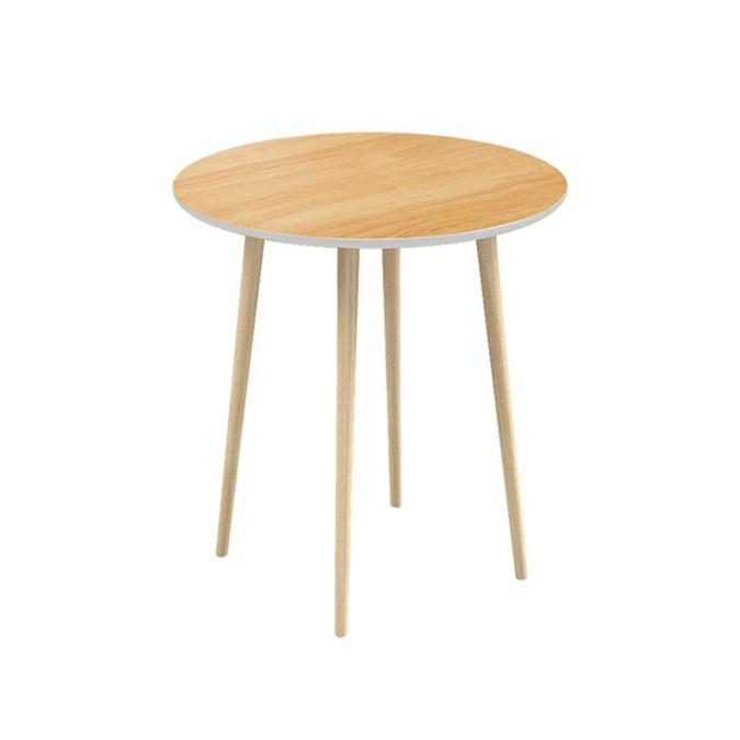 Обеденный стол СпутникОбеденные столы<br>Круглый обеденный стол Спутник – первый обеденный стол в коллекции мебели Woodi Furniture. Стол круглой формы хорошо подойдет для маленькой кухни и помещений с ограниченной площадью, так как не имеет острых углов, что особенно важно, когда в семье есть маленькие дети. Также стоит обратить внимание на стол Спутник, если вы выбираете мебель для кафе и ресторанов. Высокопрочное лаковое покрытие столешницы устойчиво к влаге, что делает Спутник идеальным предметом мебели для ресторанов, кафе и баров, а также для любых других общественных пространств.&amp;nbsp;Верхняя часть столешницы, которая изготовлена из МДФ, покрыта натуральным дубовым шпоном, нижняя часть столешницы и боковой кант окрашены в цвета из палитры Woodi Furniture. Четыре устойчивые ножки изготовлены из массива бука и покрыты прозрачным лаковым покрытием. Круглый обеденный стол Спутник легко собирается без шурупов и инструментов.<br><br>kit: None<br>gender: None