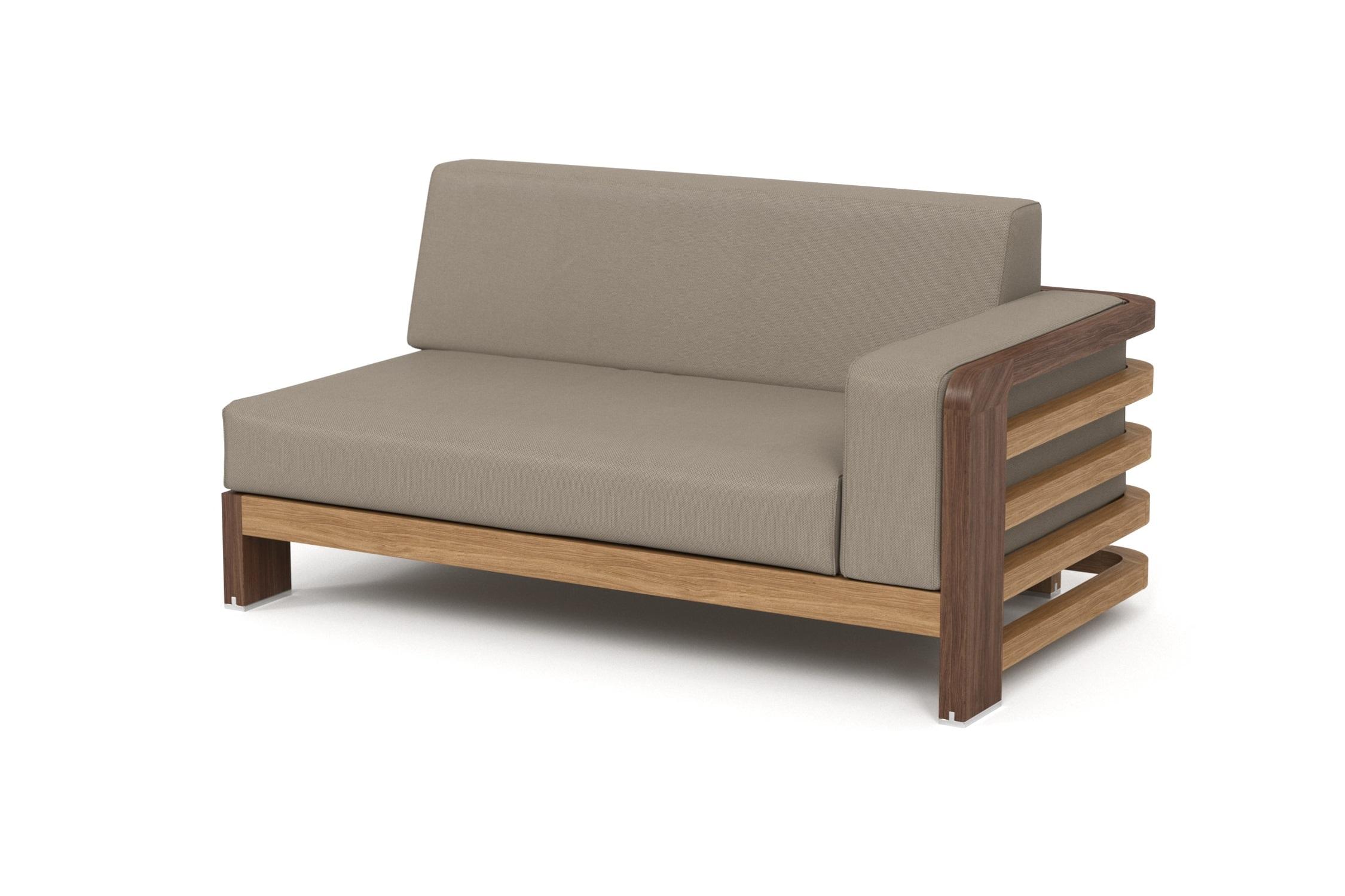 Кушетка правая LagoonДиваны и оттоманки для сада<br>Коллекция LAGOON – коллекция, предназначенная для обустройства тихого уединенного места, в котором можно полностью расслабиться и забыть о суете. <br><br>Дизайн продуман так, чтобы можно было выбрать множество вариаций для отдыха: загорать на шезлонге или расположиться на удобном диване, подремать в <br><br>кресле или понежиться на кушетке.&amp;nbsp;Высота посадки: 383 мм.&amp;nbsp;Тик – прочная и твердая древесина, относится к <br><br>ценным породам. Мебель из тика допускает круглогодичную эксплуатацию на открытом воздухе, выдерживает перепады температур от –30 до +30С. Срок службы <br><br>более 25 лет.&amp;nbsp;Sunbrella® – акриловая ткань с водоотталкивающими свойствами от мирового лидера в производстве тканей для яхт. Ткани <br><br>Sunbrella изготавливаются из окрашиваемого в растворе акрилового волокна. Обработка, препятствующая образованию пятен, защищает ткани Sunbrella, <br><br>которые допускают машинную стирку и обеспечивают защиту от УФ-лучей<br><br>kit: None<br>gender: None