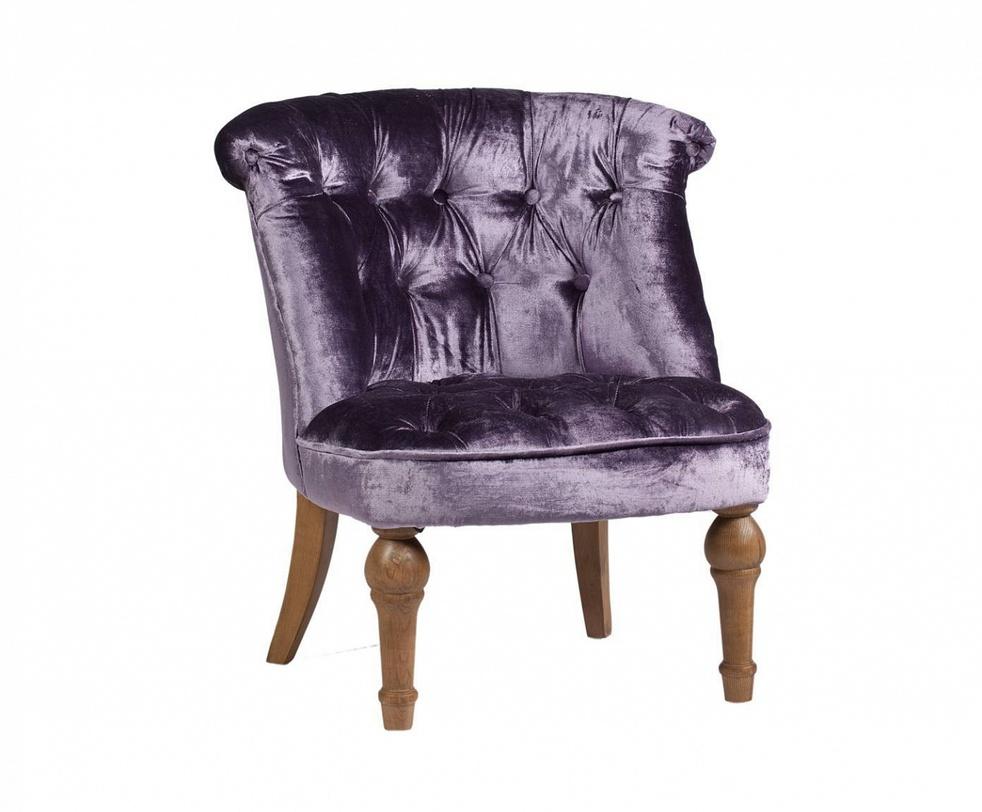 Вельветовое кресло Sorbonne Violet