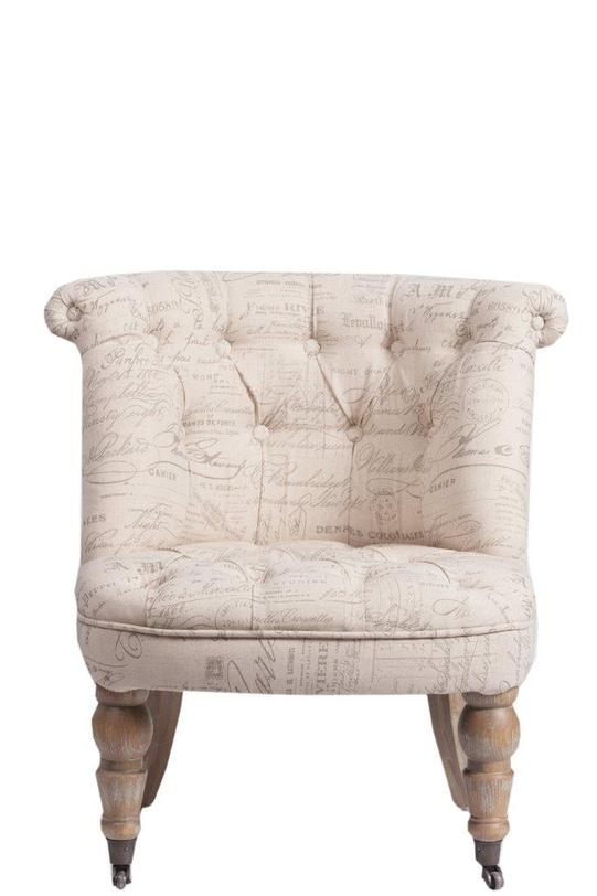 Кресло Sorbonne ProvenceПолукресла<br>Несущее в себе очарование французских аристократических домов кресло Souvenir выполнено в лучших традициях стиля «прованс». Каркас предмета мебели изготовлен из дуба. Обивка – льняная ткань с изящными и неброскими надписями; она добавляет креслу особенной оригинальности и шика.<br><br>Material: Лен<br>Length см: 70.0<br>Width см: 70.0<br>Depth см: None<br>Height см: 72.0<br>Diameter см: None
