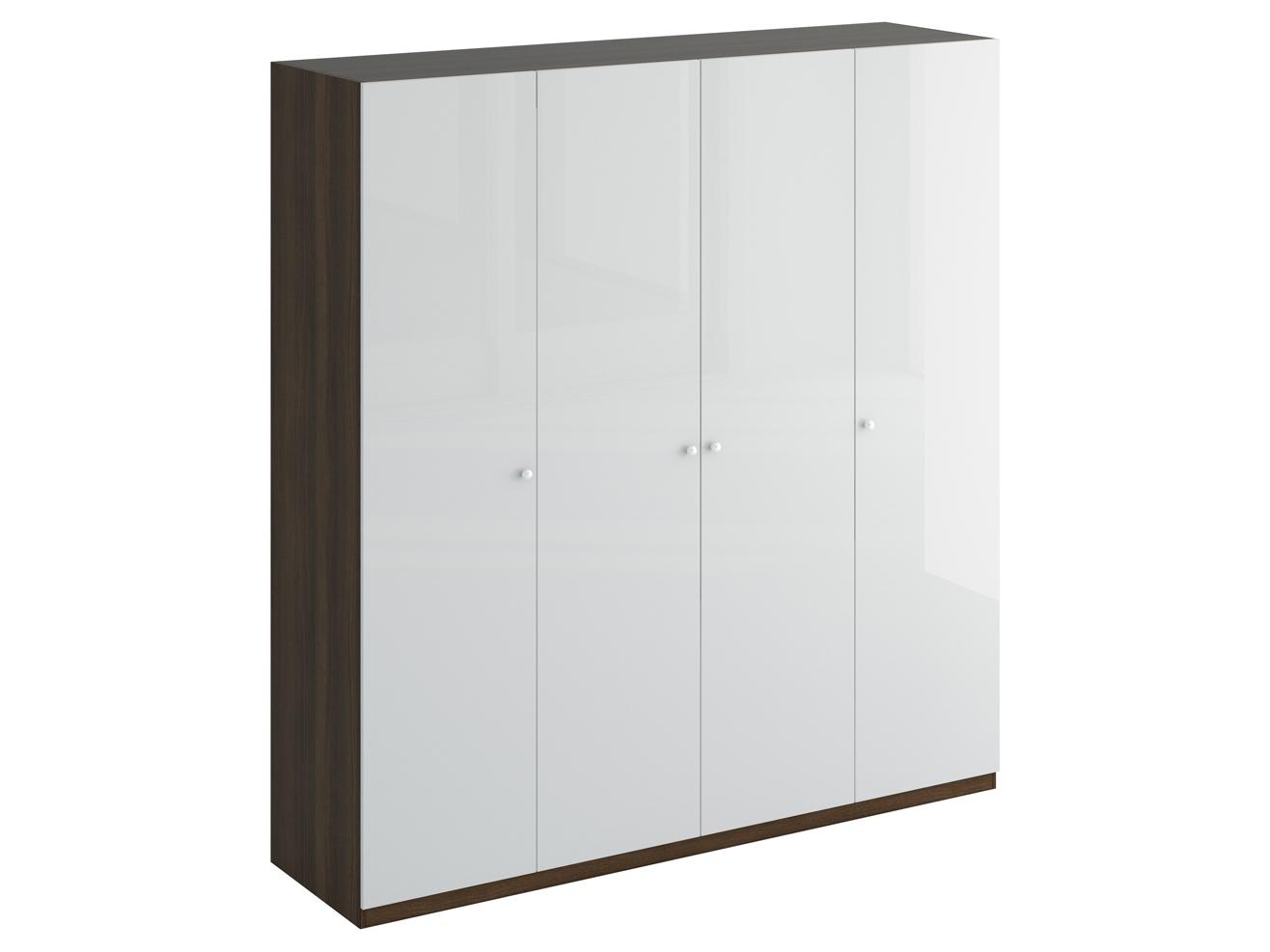 Шкаф UnoПлатяные шкафы<br>Шкаф четырехдверный состоит их трёх отделений. В отделениях расположены верхние стационарные и нижние съемными полки. На одной дверце шкафа с внутренней стороны расположено зеркало. Шкаф установлен на регулируемые опоры. Данную мебель рекомендуется крепить к стене. Ручки и внутренние элементы продаются отдельно.<br><br>Material: ДСП<br>Ширина см: 219<br>Высота см: 232<br>Глубина см: 59