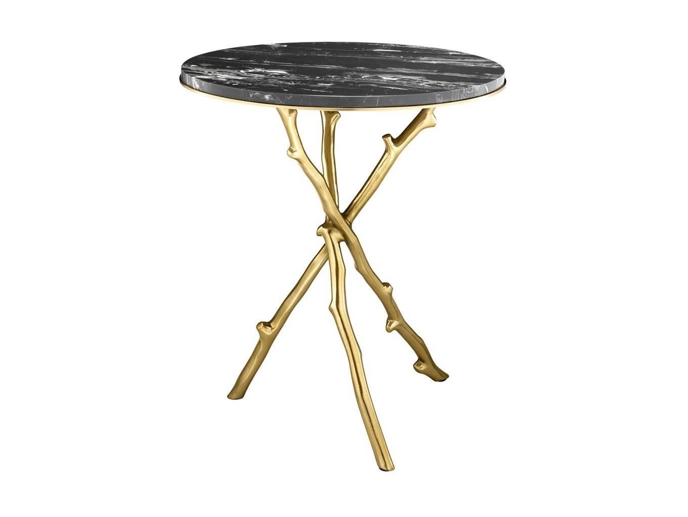 Стол WestchesterКофейные столики<br>Столик Westchester на оригинальных металлических ножках-ветвях золотого цвета.&amp;nbsp;Столешница из мрамора черного цвета.<br><br>kit: None<br>gender: None