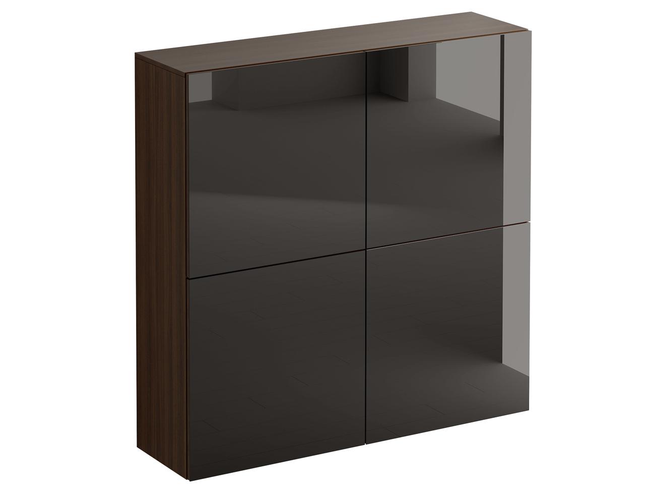 Шкаф GustoПолки<br>Фасад шкафа состоит из четырех распашных дверей, открывающихся по принципу «нажал-открыл». Шкаф имеет четыре отделения, в каждом отделении расположена съемная полка с возможностью переустановки по высоте. Задняя стенка черного цвета.Материалы:Корпус и фасад: ЛДСП 16 мм.Задняя стенка: ДВПО 3 мм.Стекло на фасадах: полированное толщиной 4мм, окрашенное эмалью.<br><br>kit: None<br>gender: None