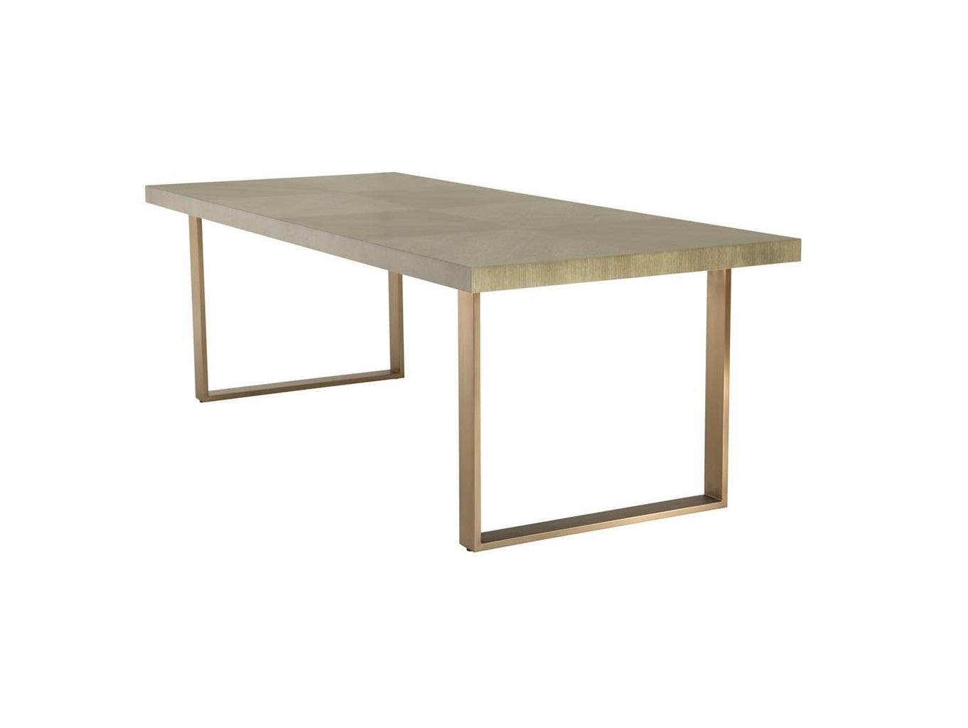 Стол RemingtonОбеденные столы<br>Обеденный стол Remington выполнен из дерева светло-коричневого цвета.&amp;amp;nbsp;&amp;lt;div&amp;gt;Каркас из металла цвета латунь.&amp;lt;/div&amp;gt;<br><br>Material: Дерево<br>Ширина см: 230.0<br>Высота см: 75.0<br>Глубина см: 100.0