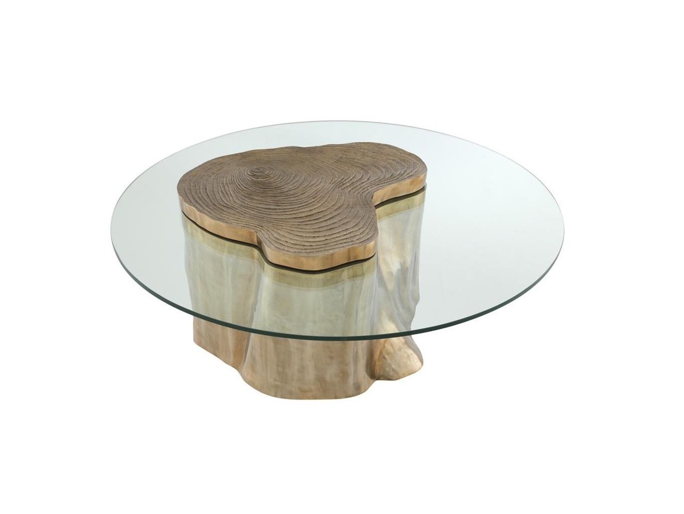 Журнальный столик UrbanЖурнальные столики<br>Журнальный столик Urban на основании из металла цвета латунь в виде дерева. Столешница выполнена из плотного прозрачного стекла.<br><br>Material: Металл<br>Ширина см: 120.0<br>Высота см: 46.0<br>Глубина см: 120.0