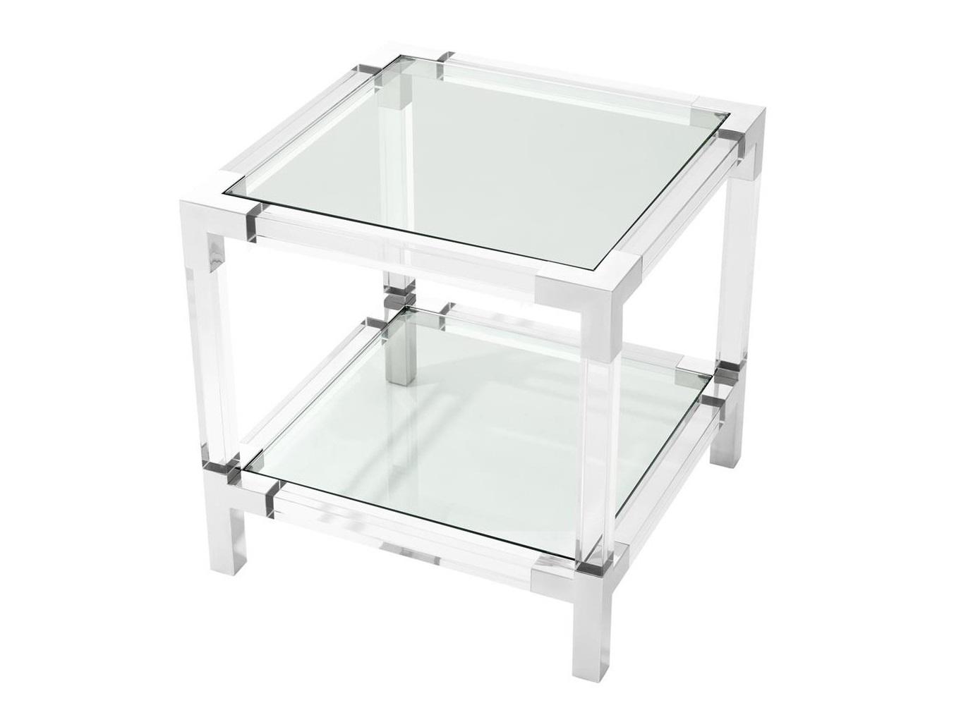 Стол RoyaltonПриставные столики<br>Столик Royalton выполнен из полированной нержавеющей стали.&amp;amp;nbsp;&amp;lt;div&amp;gt;Столешница из прозрачного стекла.&amp;lt;/div&amp;gt;<br><br>Material: Стекло<br>Ширина см: 60.0<br>Высота см: 60.0<br>Глубина см: 60.0
