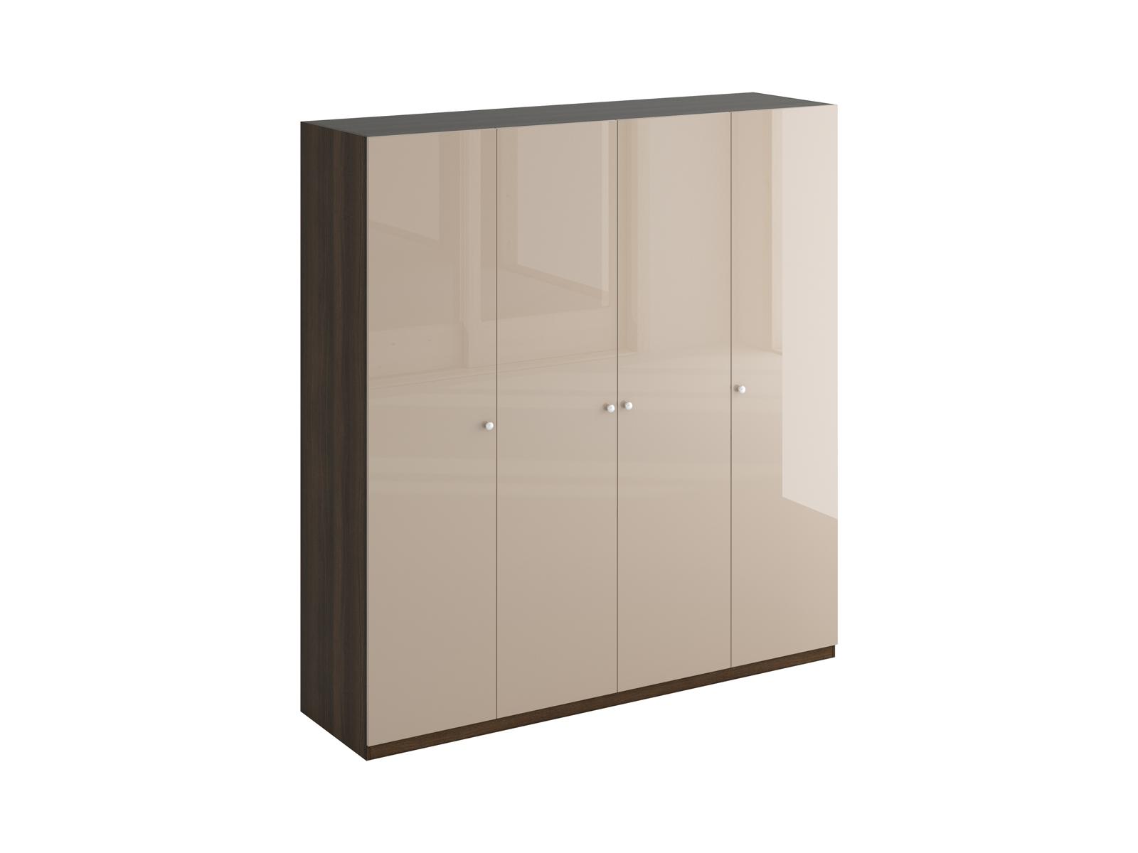 Шкаф UnoПлатяные шкафы<br>Шкаф четырехдверный состоит их трёх отделений. В отделениях расположены верхние стационарные и нижние съемными полки. На одной дверце шкафа с внутренней стороны расположено зеркало. Шкаф установлен на регулируемые опоры. Данную мебель рекомендуется крепить к стене. Ручки и внутренние элементы продаются отдельно.Материалы:Корпус: ЛДСП 16 мм цвет Фасад: ЛДСП 16 мм цвет