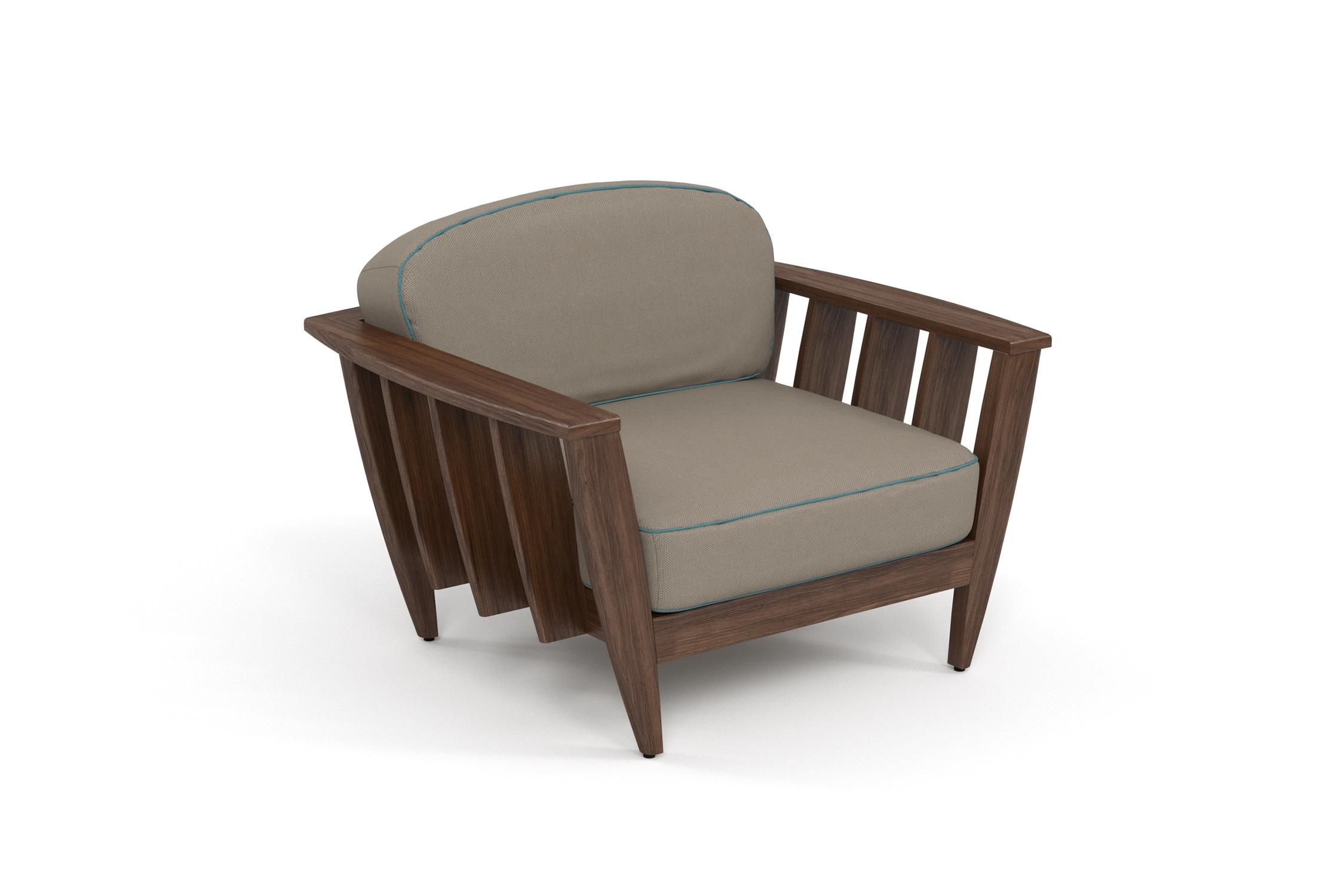 Кресло лаунж ReefКресла для сада<br>&amp;lt;div&amp;gt;Коллекция REEF - уникальный дизайн, сочетающий в себе надежность, теплоту дерева и продуманность форм. Мягкие удобные подушки, выполненные в контрастной цветовой гамме, сразу привлекают внимание к уютному уголку отдыха. Коллекция универсальна: предназначена для уединения отдыха в тенистой зелени сада, неспешных обедов во внутреннем дворике или досуга у воды.&amp;amp;nbsp;&amp;lt;/div&amp;gt;&amp;lt;div&amp;gt;Высота посадки:390мм.&amp;lt;/div&amp;gt;&amp;lt;div&amp;gt;&amp;lt;br&amp;gt;&amp;lt;/div&amp;gt;&amp;lt;div&amp;gt;&amp;lt;div&amp;gt;Термоясень (ясень термообработанный) обладает высокими эксплуатационными характеристиками. Имеет ярко выраженную красивую текстуру и благородный аромат. Это исключительно долговечный, недеформируемый под воздействием атмосферных явлений и экологически чистый материал. В результате термообработки – длительного переменного воздействия пара и высоких температур – в структуре древесины происходят изменения на молекулярном уровне, и ясень приобретает наиболее важные для уличной мебели свойства – водостойкость, стабильность размеров, абсолютную устойчивость к биологическим поражениям. Срок службы – 10-15 лет.&amp;lt;/div&amp;gt;&amp;lt;/div&amp;gt;&amp;lt;div&amp;gt;&amp;lt;br&amp;gt;&amp;lt;/div&amp;gt;&amp;lt;div&amp;gt;Sunbrella® – акриловая ткань с водоотталкивающими свойствами от мирового лидера в производстве тканей для яхт.&amp;lt;/div&amp;gt;&amp;lt;div&amp;gt;&amp;lt;br&amp;gt;&amp;lt;/div&amp;gt;<br><br>&amp;lt;iframe width=&amp;quot;530&amp;quot; height=&amp;quot;300&amp;quot; src=&amp;quot;https://www.youtube.com/embed/uL9Kujh07kc&amp;quot; frameborder=&amp;quot;0&amp;quot; allowfullscreen=&amp;quot;&amp;quot;&amp;gt;&amp;lt;/iframe&amp;gt;<br><br>Material: Ясень<br>Ширина см: 111.0<br>Высота см: 77.0<br>Глубина см: 95
