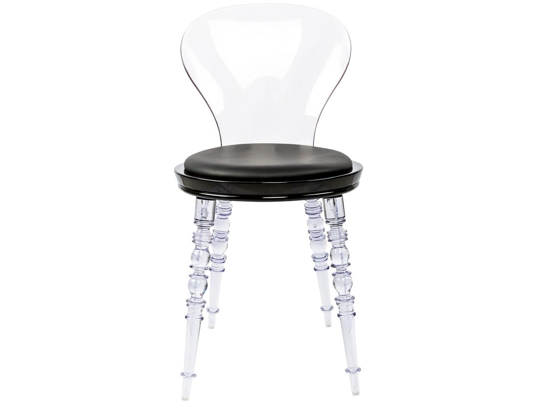 Стул Премьер Noir прозрачныйОбеденные стулья<br>Изящные прозрачные ножки и спинка стула контрастно ярки на фоне черного сиденья. Ножки и спинка изготовлены из поликарбоната, выносливого и долговечного материала. Каркас сиденья изготовлен из полипропилена, легкого, но жесткого полимера.<br><br>Material: Экокожа<br>Ширина см: 40.0<br>Высота см: 81.0<br>Глубина см: 40.0