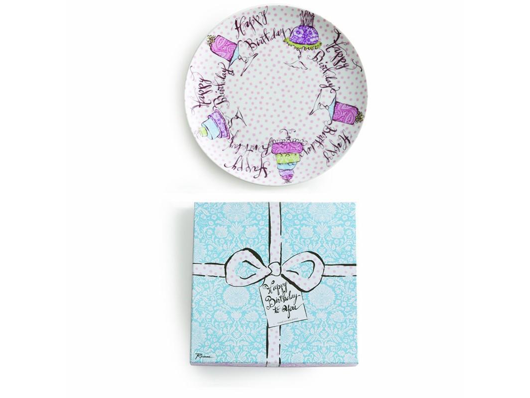 Сервировочное блюдо (большое)Декоративные блюда<br>В основе новой праздничной коллеции &amp;quot;Happy Birthday&amp;quot; - посуда из настоящего фарфора.  Каждый предмет коллекции упакован в свою фирменную коробку с отдельным дизайном, что еще сильнее подчеркивает особенность этой серии.&amp;amp;nbsp;<br><br>Material: Фарфор<br>Высота см: 3