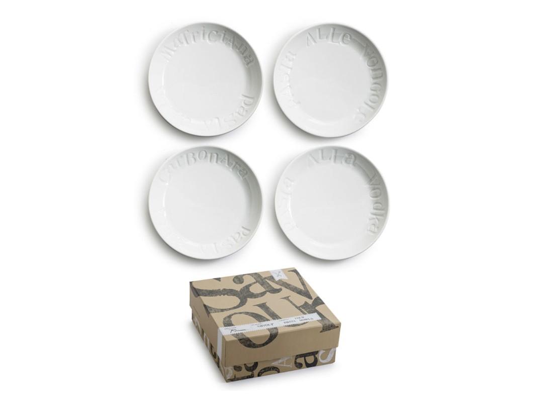 Набор тарелок для пасты (4 шт)Тарелки<br>Коллекция Savour - тонкое заявление на самый современный дизайн сервировки стола. В основе серии — посуда из настоящего фарфора.  Каждый предмет коллекции упакован в свою фирменную коробку с отдельным дизайном, что еще сильнее подчеркивает особенность этой серии.<br><br>kit: None<br>gender: None