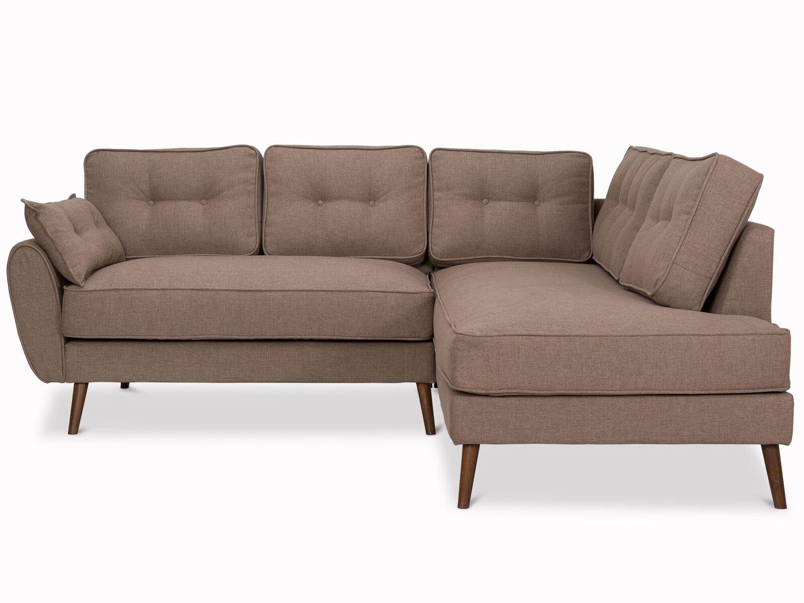 Myfurnish угловой диван vogue коричневый  78498/1