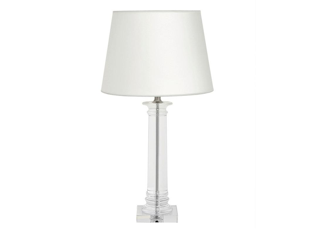 Настольная лампа Bulgari LДекоративные лампы<br>Настольная лампа Bulgari L на основании из прозрачного стекла.&amp;amp;nbsp;&amp;lt;div&amp;gt;Текстильный абажур белого цвета скрывает лампу.&amp;amp;nbsp;&amp;lt;/div&amp;gt;&amp;lt;div&amp;gt;Цвет отделки металла - никель.&amp;lt;/div&amp;gt;&amp;lt;div&amp;gt;&amp;lt;br&amp;gt;&amp;lt;/div&amp;gt;&amp;lt;div&amp;gt;Вид цоколя: Е27&amp;lt;/div&amp;gt;&amp;lt;div&amp;gt;Мощность: 60W&amp;lt;/div&amp;gt;&amp;lt;div&amp;gt;Количество ламп: 1&amp;lt;/div&amp;gt;&amp;lt;div&amp;gt;&amp;lt;br&amp;gt;&amp;lt;/div&amp;gt;<br><br>Material: Текстиль<br>Ширина см: 42.0<br>Высота см: 83.0<br>Глубина см: 42.0