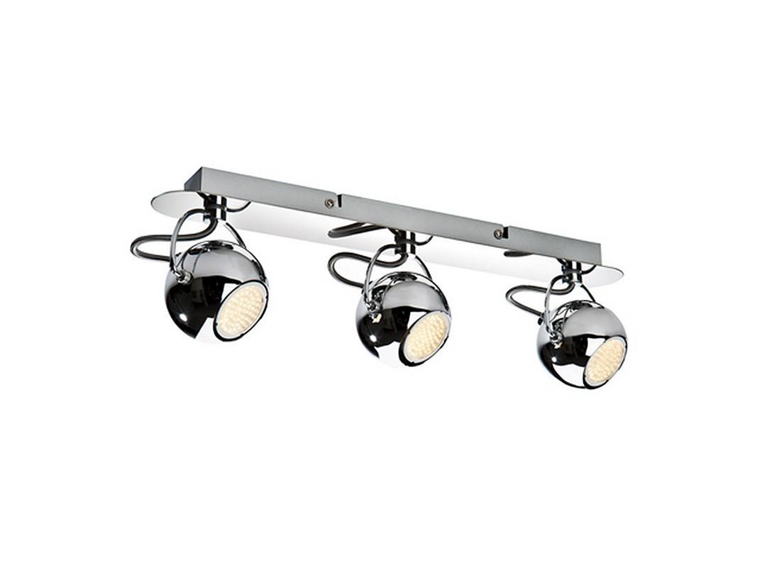 Потолочный светильник CiclopeСпоты<br>Потолочный светильник выполнен в виде пластины, на которой расположены три сферических поворотных плафона - угол поворота около 360 градусов. Удивительная, но вместе с тем весьма практичная конструкция станет украшением для любого помещения. Плафон и основание выполнены из хромированного металла. Освещение регулируемое.&amp;amp;nbsp;&amp;lt;div&amp;gt;&amp;lt;br&amp;gt;&amp;lt;/div&amp;gt;&amp;lt;div&amp;gt;&amp;lt;div&amp;gt;Вид цоколя: GU10&amp;lt;/div&amp;gt;&amp;lt;div&amp;gt;Мощность лампы: 4W&amp;lt;/div&amp;gt;&amp;lt;div&amp;gt;Количество ламп: 3&amp;lt;/div&amp;gt;&amp;lt;div&amp;gt;Наличие ламп: да&amp;lt;/div&amp;gt;&amp;lt;/div&amp;gt;<br><br>Material: Металл<br>Ширина см: 44<br>Высота см: 9<br>Глубина см: 14