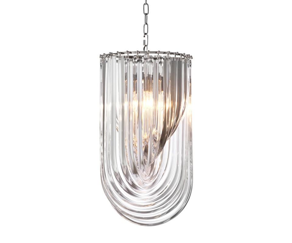 Подвесная люстра MuranoЛюстры подвесные<br>Подвесная люстра Chandelier Murano на никелированной арматуре. Плафон выполнен из фактурного прозрачного муранского стекла. Высота светильника регулируется за счет звеньев цепи. Лампочки в комплект не входят.&amp;lt;div&amp;gt;&amp;lt;br&amp;gt;&amp;lt;/div&amp;gt;&amp;lt;div&amp;gt;Вид цоколя: Е27&amp;lt;/div&amp;gt;&amp;lt;div&amp;gt;Мощность ламп: 40W&amp;lt;/div&amp;gt;&amp;lt;div&amp;gt;Количество ламп: 4&amp;lt;/div&amp;gt;<br><br>Material: Стекло<br>Ширина см: 35<br>Высота см: 65<br>Глубина см: 35