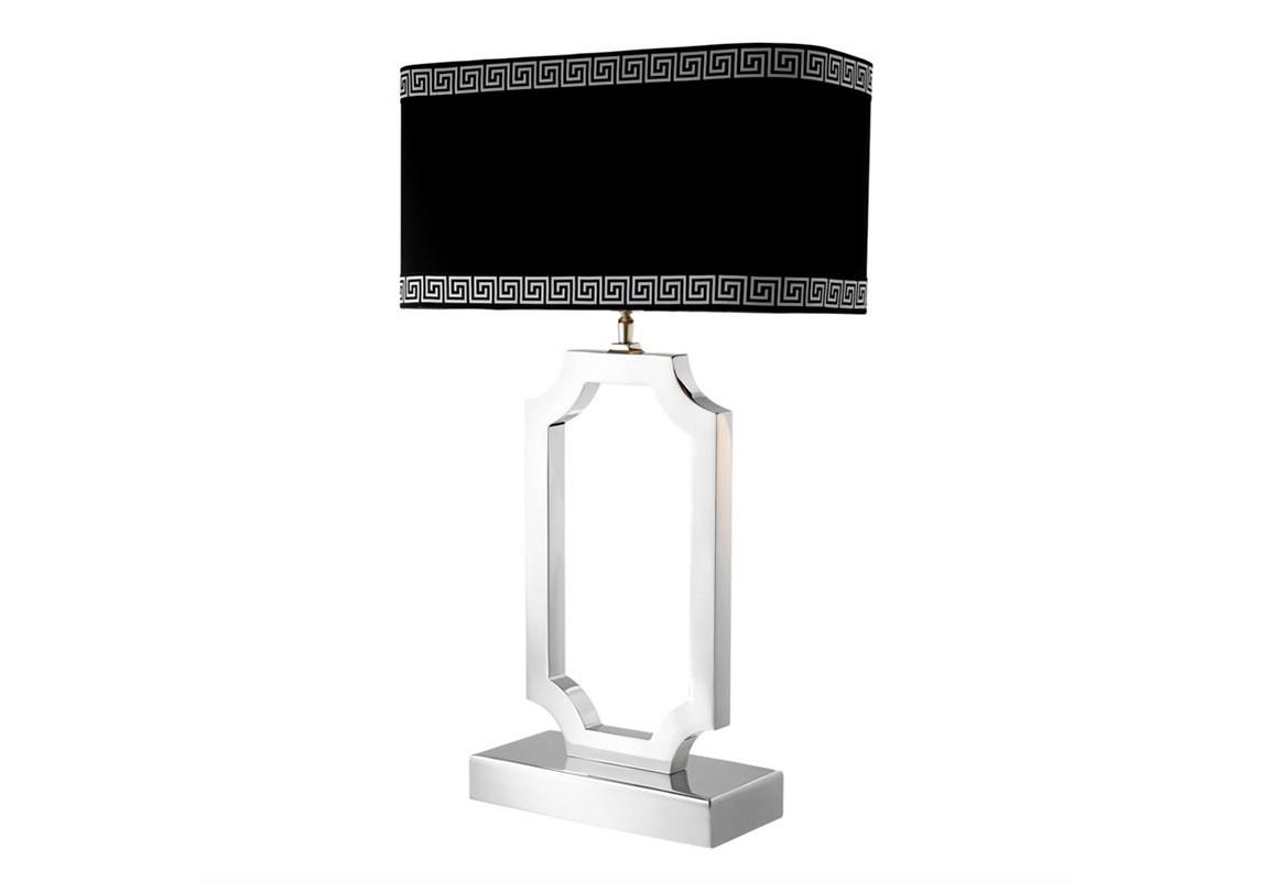 Настольная лампа SterlingtonДекоративные лампы<br>Настольная лампа Table Lamp Sterlington на основании из никелированного металла. Текстильный абажур черного цвета скрывает лампу.&amp;lt;div&amp;gt;&amp;lt;br&amp;gt;&amp;lt;/div&amp;gt;&amp;lt;div&amp;gt;Вид цоколя: Е27&amp;lt;/div&amp;gt;&amp;lt;div&amp;gt;Мощность ламп: 40W&amp;lt;br&amp;gt;Количество ламп: 1&amp;lt;/div&amp;gt;<br><br>Material: Металл<br>Ширина см: 45<br>Высота см: 67<br>Глубина см: 22