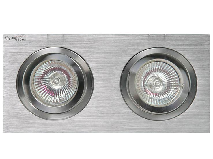 Встраиваемый светильник LuxorТочечный свет<br>&amp;lt;div&amp;gt;Встраиваемый светильник LUXOR выполнен в форме прямоугольной пластины с двумя поворотными светильниками. Основание из матового алюминия, детали светильников хромированные.&amp;amp;nbsp;&amp;lt;/div&amp;gt;&amp;lt;div&amp;gt;&amp;lt;br&amp;gt;&amp;lt;/div&amp;gt;&amp;lt;div&amp;gt;Вид цоколя: GU5.3&amp;lt;br&amp;gt;&amp;lt;/div&amp;gt;&amp;lt;div&amp;gt;Мощность: 50W&amp;lt;/div&amp;gt;&amp;lt;div&amp;gt;Количество ламп: 2 (нет в комплекте)&amp;lt;/div&amp;gt;&amp;lt;div&amp;gt;Для данной модели необходим трансформатор (в комплект не входит).&amp;amp;nbsp;&amp;lt;/div&amp;gt;<br><br>Material: Металл<br>Ширина см: 19<br>Высота см: 6<br>Глубина см: 9