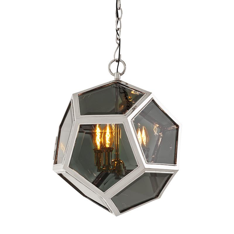 Подвесной светильник YorkshireЛюстры подвесные<br>Подвесной светильник Yorkshire M с оригинальным дизайном плафона в виде стеклянного шара в металлических рамках. Внутри шара располагаются лампы. Цвет арматуры - никелевый. Цвет стекла - дымчато-серый. Крепление осуществляется на крюк. Высоту можно регулировать за счет звеньев цепи.&amp;lt;div&amp;gt;&amp;lt;br&amp;gt;&amp;lt;/div&amp;gt;&amp;lt;div&amp;gt;&amp;lt;div&amp;gt;Вид цоколя: E14&amp;lt;/div&amp;gt;&amp;lt;div&amp;gt;Мощность лампы: 40W&amp;lt;/div&amp;gt;&amp;lt;div&amp;gt;Количество ламп: 3&amp;lt;/div&amp;gt;&amp;lt;/div&amp;gt;<br><br>Material: Металл<br>Ширина см: 43.0<br>Высота см: 48.0<br>Глубина см: 43.0