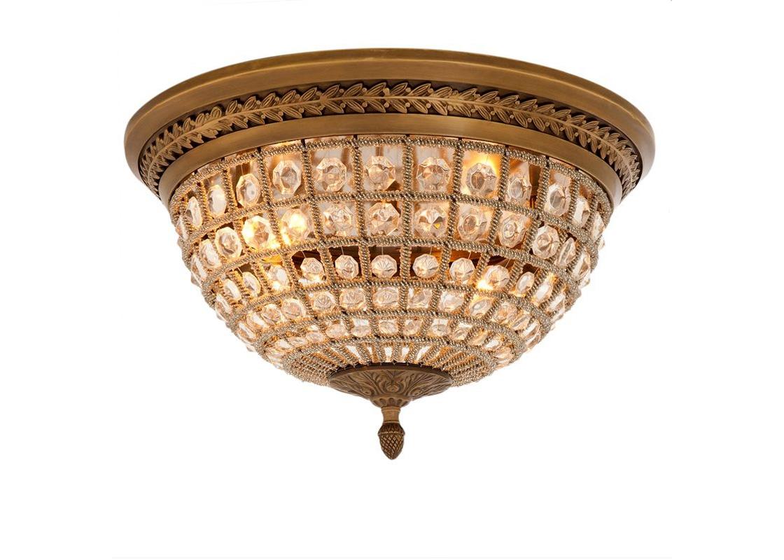 Потолочный светильник KasbahПотолочные светильники<br>&amp;lt;div&amp;gt;Потолочный светильник Kasbah на металлической арматуре цвета латунь с патиной. Плафон в виде сетки состоит из мноржества прозрачных бус с крупными кристаллами.&amp;lt;/div&amp;gt;&amp;lt;div&amp;gt;&amp;lt;br&amp;gt;&amp;lt;/div&amp;gt;&amp;lt;div&amp;gt;Количество лампочек: 2&amp;lt;/div&amp;gt;&amp;lt;div&amp;gt;Мощность: 2 x 40 Вт&amp;lt;/div&amp;gt;&amp;lt;div&amp;gt;Тип лампы: Накаливания, E14&amp;lt;/div&amp;gt;<br><br>Material: Металл<br>Ширина см: 45<br>Высота см: 37<br>Глубина см: 45