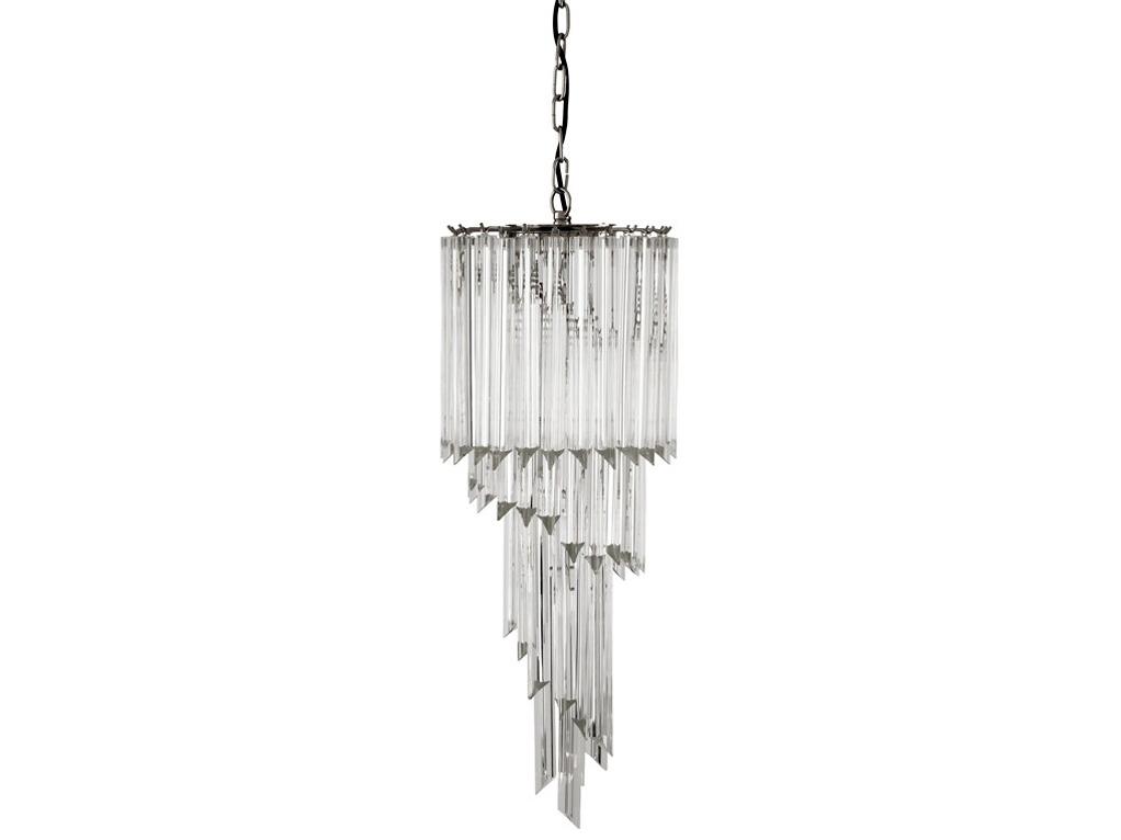 Подвесная люстра TrapaniЛюстры подвесные<br>Подвесной светильник из коллекции Trapani на никелированной арматуре. Плафон выполнен из многоуровневых пластин из прозрачного стекла. Высота светильника регулируется за счет звеньев цепи.&amp;lt;div&amp;gt;&amp;lt;br&amp;gt;&amp;lt;div&amp;gt;&amp;lt;div&amp;gt;Вид цоколя: E14&amp;lt;/div&amp;gt;&amp;lt;div&amp;gt;Мощность лампы: 40W&amp;lt;/div&amp;gt;&amp;lt;div&amp;gt;Количество ламп: 3 (нет в комплекте)&amp;lt;/div&amp;gt;&amp;lt;/div&amp;gt;&amp;lt;/div&amp;gt;<br><br>Material: Стекло<br>Ширина см: 40.0<br>Высота см: 95.0<br>Глубина см: 40.0