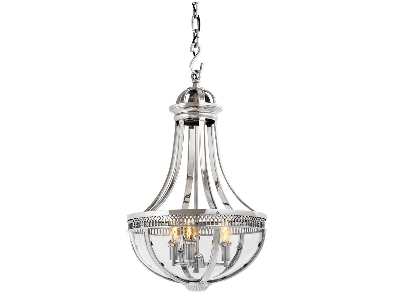 Подвесной светильник Capitol HillПодвесные светильники<br>Подвесной светильник-латерна Capitol Hill S с оригинальным дизайном выполнен из никелированного металла. Нижняя часть плафона из прозрачного стекла. Высота светильника регулируется за счет звеньев цепи.&amp;lt;div&amp;gt;&amp;lt;br&amp;gt;&amp;lt;/div&amp;gt;&amp;lt;div&amp;gt;&amp;lt;div&amp;gt;&amp;lt;div&amp;gt;Вид цоколя: E14&amp;lt;/div&amp;gt;&amp;lt;div&amp;gt;Мощность лампы: 40W&amp;lt;/div&amp;gt;&amp;lt;div&amp;gt;Количество ламп: 3&amp;lt;/div&amp;gt;&amp;lt;/div&amp;gt;&amp;lt;/div&amp;gt;&amp;lt;div&amp;gt;&amp;lt;br&amp;gt;&amp;lt;/div&amp;gt;&amp;lt;div&amp;gt;Лампочки в комплект не входят.&amp;lt;/div&amp;gt;<br><br>Material: Металл<br>Ширина см: 42<br>Высота см: 67<br>Глубина см: 42