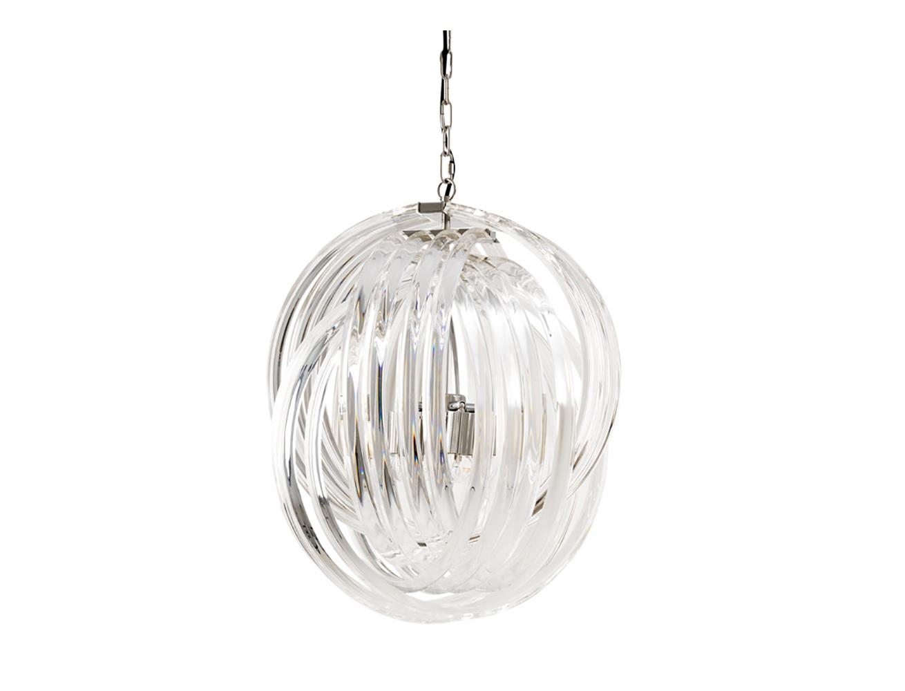 Подвесной светильник Marco PoloПодвесные светильники<br>Подвесной светильник Chandelier Marco Polo M на никелированной арматуре. Плафон выполнен из фактурного прозрачного муранского стекла. Высота светильника регулируется за счет звеньев цепи.&amp;lt;div&amp;gt;&amp;lt;br&amp;gt;&amp;lt;/div&amp;gt;&amp;lt;div&amp;gt;&amp;lt;div&amp;gt;&amp;lt;div&amp;gt;Вид цоколя: E27&amp;lt;/div&amp;gt;&amp;lt;div&amp;gt;Мощность лампы: 40W&amp;lt;/div&amp;gt;&amp;lt;div&amp;gt;Количество ламп: 4&amp;lt;/div&amp;gt;&amp;lt;/div&amp;gt;&amp;lt;div&amp;gt;&amp;lt;br&amp;gt;&amp;lt;/div&amp;gt;&amp;lt;div&amp;gt;Лампочки в комплект не входят.&amp;lt;/div&amp;gt;&amp;lt;/div&amp;gt;<br><br>Material: Стекло<br>Ширина см: 50<br>Высота см: 57<br>Глубина см: 50