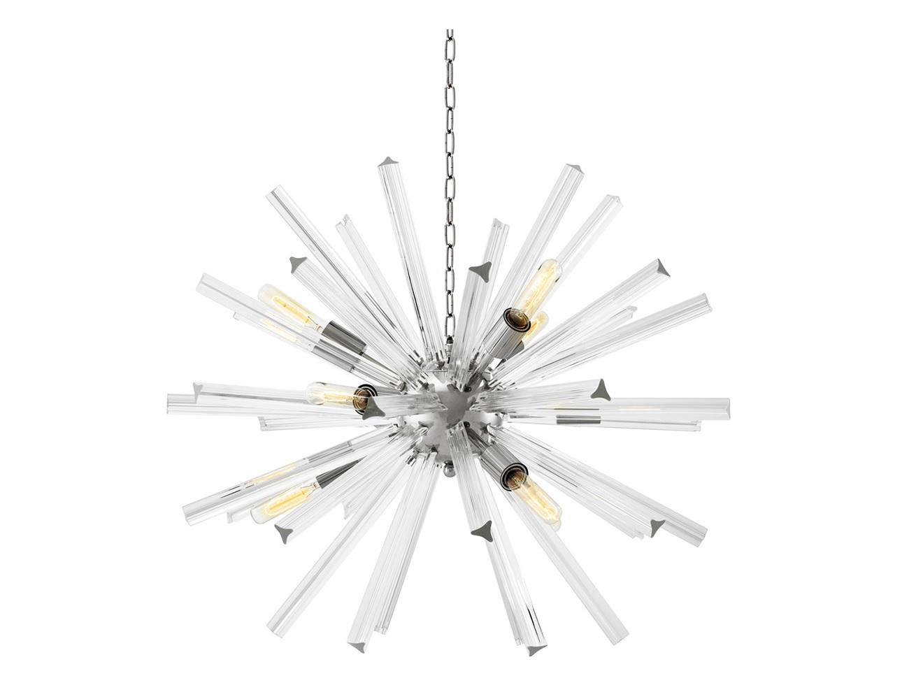 Подвесной светильник EqualizerПодвесные светильники<br>Подвесной светильник Chandelier Equalizer S с оригинальным дизайном выполнен из никелированного металла. Декорирован колбочками из прозрачного стекла. Высота светильника регулируется за счет звеньев цепи.&amp;lt;div&amp;gt;&amp;lt;br&amp;gt;&amp;lt;/div&amp;gt;&amp;lt;div&amp;gt;&amp;lt;div&amp;gt;&amp;lt;div&amp;gt;Вид цоколя: E27&amp;lt;/div&amp;gt;&amp;lt;div&amp;gt;Мощность лампы: 60W&amp;lt;/div&amp;gt;&amp;lt;div&amp;gt;Количество ламп: 9&amp;lt;/div&amp;gt;&amp;lt;/div&amp;gt;&amp;lt;div&amp;gt;&amp;lt;br&amp;gt;&amp;lt;/div&amp;gt;&amp;lt;div&amp;gt;Лампочки в комплект не входят.&amp;lt;/div&amp;gt;&amp;lt;/div&amp;gt;<br><br>Material: Стекло<br>Ширина см: 75<br>Высота см: 75<br>Глубина см: 75