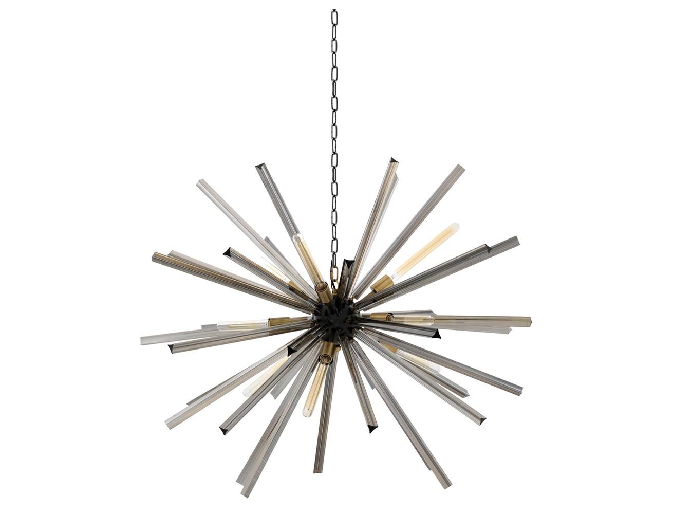Подвесной светильник EqualizerПодвесные светильники<br>Подвесной светильник Chandelier Equalizer L с оригинальным дизайном выполнен из металла черного цвета с элементами цвета латунь. Декорирован колбочками из стекла дымчатого цвета. Высота светильника регулируется за счет звеньев цепи.&amp;lt;div&amp;gt;&amp;lt;br&amp;gt;&amp;lt;/div&amp;gt;&amp;lt;div&amp;gt;&amp;lt;div&amp;gt;&amp;lt;div&amp;gt;Вид цоколя: E27&amp;lt;/div&amp;gt;&amp;lt;div&amp;gt;Мощность лампы: 40W&amp;lt;/div&amp;gt;&amp;lt;div&amp;gt;Количество ламп: 9&amp;lt;/div&amp;gt;&amp;lt;/div&amp;gt;&amp;lt;div&amp;gt;&amp;lt;br&amp;gt;&amp;lt;/div&amp;gt;&amp;lt;div&amp;gt;Лампочки в комплект не входят.&amp;lt;/div&amp;gt;&amp;lt;/div&amp;gt;<br><br>Material: Металл<br>Ширина см: 120<br>Высота см: 120<br>Глубина см: 120
