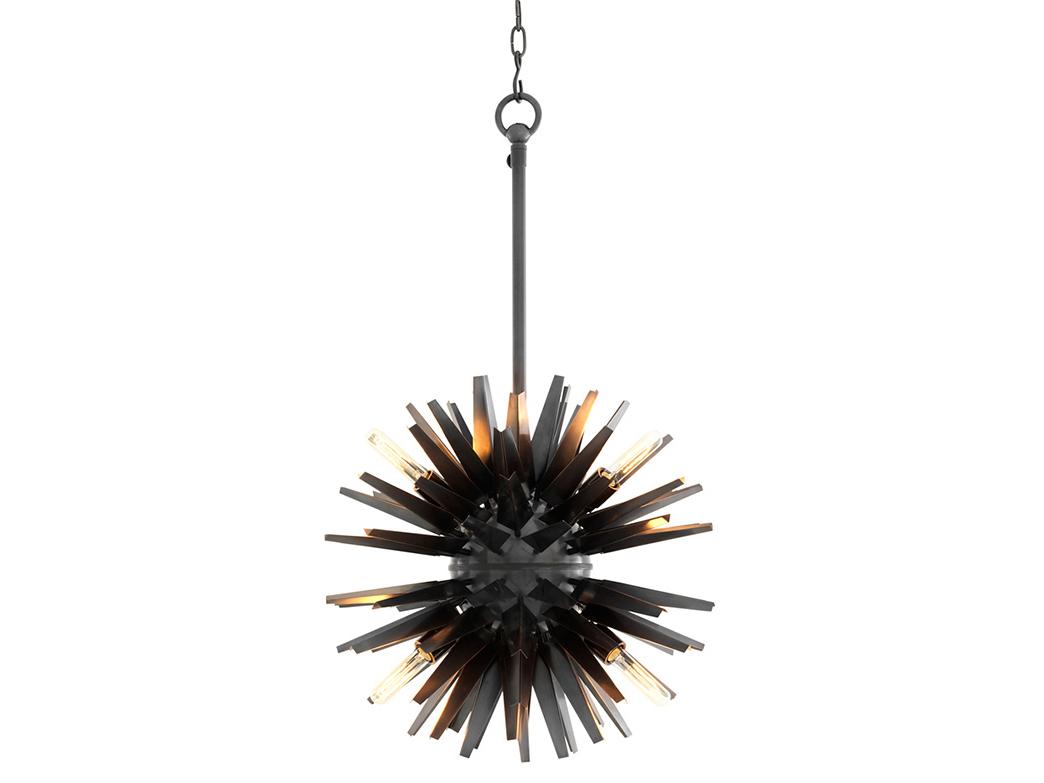 Подвесной светильник GregorianПодвесные светильники<br>Подвесной светильник Chandelier Gregorian S с оригинальным дизайном в виде &amp;quot;колючки&amp;quot; выполнен из металла бронзового цвета. Высота светильника регулируется за счет звеньев цепи.&amp;amp;nbsp;&amp;lt;div&amp;gt;&amp;lt;br&amp;gt;&amp;lt;/div&amp;gt;&amp;lt;div&amp;gt;&amp;lt;div&amp;gt;Цоколь: E27&amp;lt;/div&amp;gt;&amp;lt;div&amp;gt;Мощность: 40W&amp;lt;/div&amp;gt;&amp;lt;div&amp;gt;Количество ламп: 6&amp;lt;/div&amp;gt;&amp;lt;/div&amp;gt;<br><br>Material: Металл<br>Ширина см: 56.0<br>Высота см: 56.0<br>Глубина см: 56.0