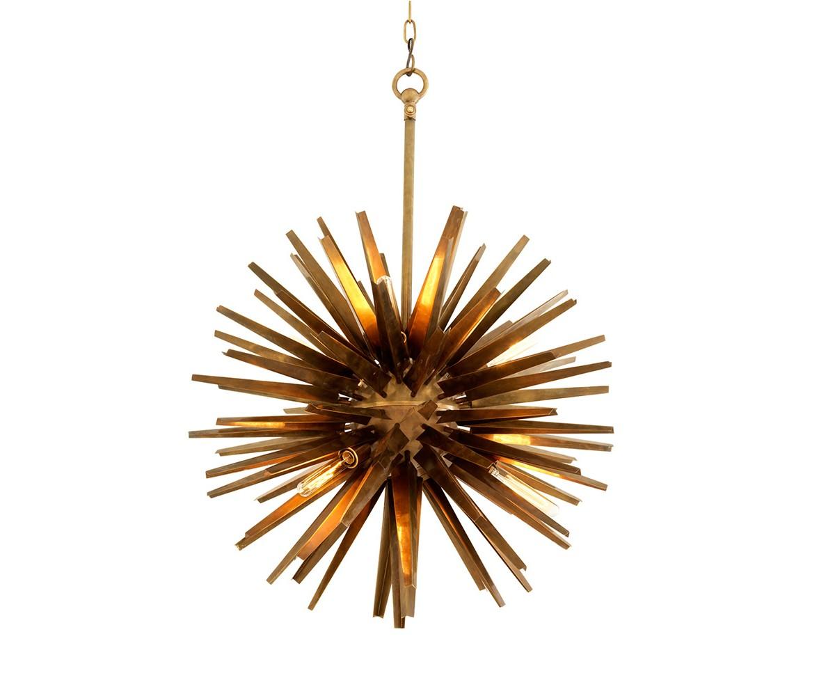Подвесной светильник GregorianПодвесные светильники<br>Подвесной светильник Chandelier Gregorian L с оригинальным дизайном в виде &amp;quot;колючки&amp;quot; выполнен из металла цвета состаренная латунь. Высота светильника регулируется за счет звеньев цепи.&amp;amp;nbsp;&amp;lt;div&amp;gt;&amp;lt;br&amp;gt;&amp;lt;/div&amp;gt;&amp;lt;div&amp;gt;&amp;lt;div&amp;gt;Цоколь: E27&amp;lt;/div&amp;gt;&amp;lt;div&amp;gt;Мощность: 40W&amp;lt;/div&amp;gt;&amp;lt;div&amp;gt;Количество ламп: 6&amp;lt;/div&amp;gt;&amp;lt;/div&amp;gt;<br><br>Material: Металл<br>Ширина см: 82.0<br>Высота см: 82.0<br>Глубина см: 82.0