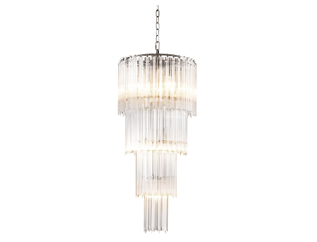 Люстра AlpinaЛюстры подвесные<br>Подвесной светильник из коллекции Chandelier Alpina S на никелированной арматуре. Плафон выполнен из многоуровневых пластин из прозрачного стекла. Высота светильника регулируется за счет звеньев цепи.&amp;lt;div&amp;gt;&amp;lt;br&amp;gt;&amp;lt;/div&amp;gt;&amp;lt;div&amp;gt;&amp;lt;div&amp;gt;Вид цоколя: E14&amp;lt;/div&amp;gt;&amp;lt;div&amp;gt;Мощность лампы: 40W&amp;lt;/div&amp;gt;&amp;lt;div&amp;gt;Количество ламп: 12&amp;lt;/div&amp;gt;&amp;lt;/div&amp;gt;&amp;lt;div&amp;gt;&amp;lt;br&amp;gt;&amp;lt;/div&amp;gt;&amp;lt;div&amp;gt;Лампочки в комплект не входят.&amp;lt;/div&amp;gt;<br><br>Material: Стекло<br>Ширина см: 39<br>Высота см: 88<br>Глубина см: 39