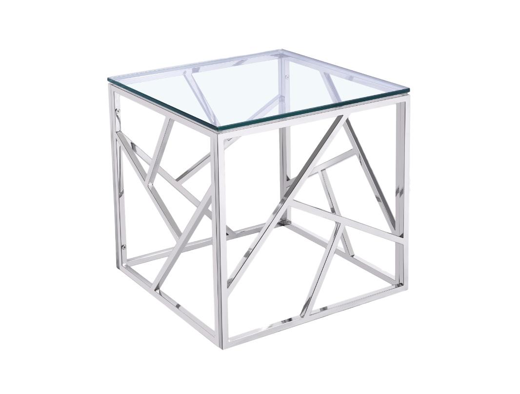 СтоликПриставные столики<br>&amp;lt;span style=&amp;quot;font-size: 14px;&amp;quot;&amp;gt;Ламповый столик на металлической основе со столешницей из прочного, прозрачного стекла. Основа столика выполнена из сложной геометрической формы в изысканной стилистике &amp;quot;Арт-деко&amp;quot;.&amp;lt;/span&amp;gt;<br><br>Material: Стекло<br>Ширина см: 55<br>Высота см: 50<br>Глубина см: 50