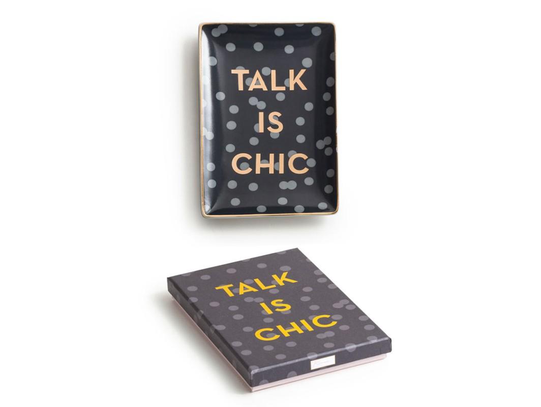 Декоративный поднос Talk is chicДекоративные подносы<br><br><br>Material: Фарфор<br>Ширина см: 15<br>Высота см: 2<br>Глубина см: 10