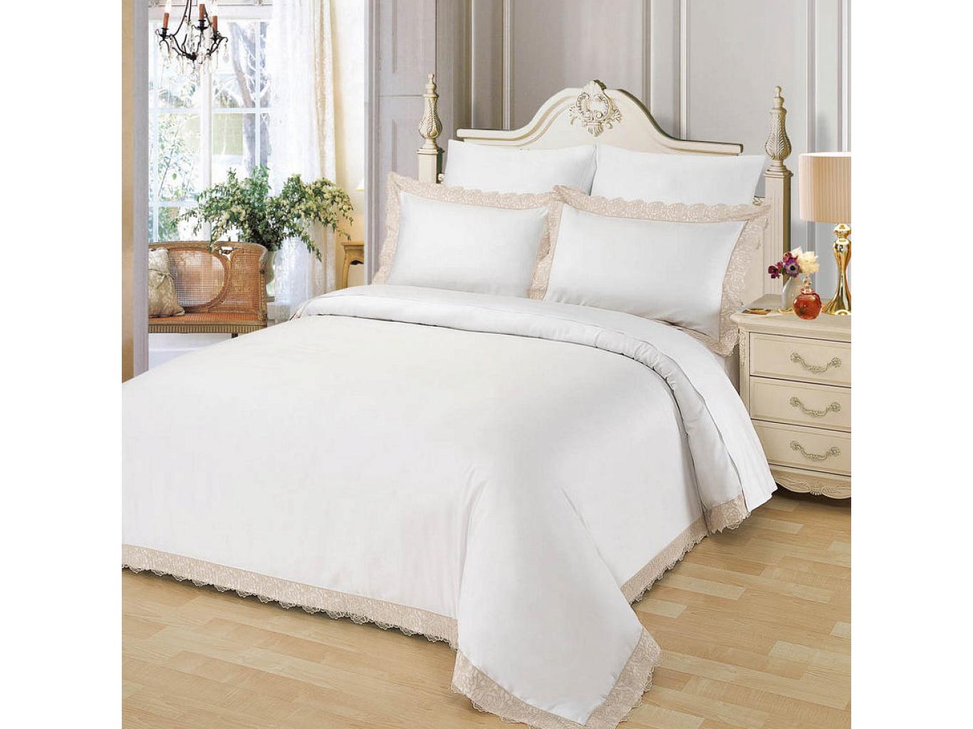 Комплект постельного белья МарианнаДвуспальные комплекты постельного белья<br>&amp;lt;div&amp;gt;Великолепный белоснежный комплект из хлопка станет настоящим украшением для Вашей спальни. Наволочки с &amp;quot;ушками&amp;quot; и изысканным кружевом нежных оттенков по периметру смотрятся необыкновенно утонченно. Хлопковая нить сплетается определенным способом, он позволяет получить высокую плотность ткани, не теряя при этом мягкости.&amp;amp;nbsp;&amp;lt;/div&amp;gt;&amp;lt;div&amp;gt;&amp;lt;br&amp;gt;&amp;lt;/div&amp;gt;&amp;lt;div&amp;gt;Комплектация:&amp;lt;/div&amp;gt;&amp;lt;div&amp;gt;Пододеяльник: 200х220 см (1)&amp;amp;nbsp;&amp;lt;/div&amp;gt;&amp;lt;div&amp;gt;Простынь: 230х250 см (1)&amp;amp;nbsp;&amp;lt;/div&amp;gt;&amp;lt;div&amp;gt;Наволочки: 50х70 см (2)&amp;amp;nbsp;&amp;lt;/div&amp;gt;&amp;lt;div&amp;gt;Наволочки: 70х70 см (2)&amp;amp;nbsp;&amp;lt;/div&amp;gt;&amp;lt;div&amp;gt;Состав: 100% хлопок&amp;lt;/div&amp;gt;<br><br>Material: Хлопок<br>Ширина см: 230.0<br>Глубина см: 250.0
