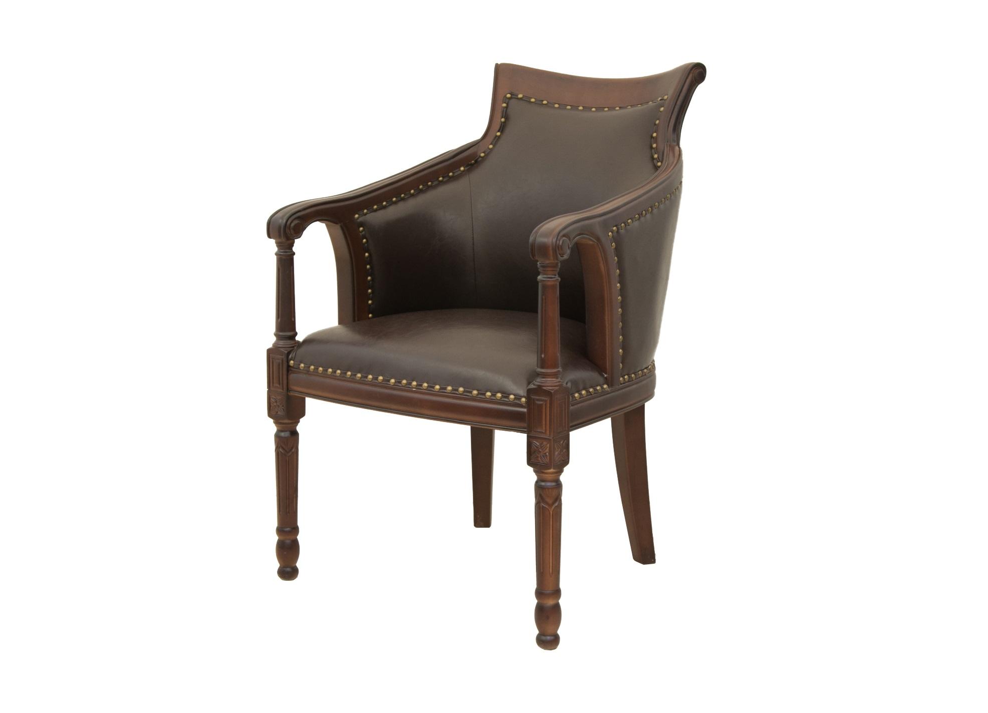 Деревянное кресло ValeneИнтерьерные кресла<br>Кресло Valene это простое, но лаконичное деревянное кресло. Его каркас выполнен из ценных пород дерева, а оббивка имеет спокойную и приятную фактуру. Внешне он достаточно представителен и достоин того, чтобы Вы могли украсить им гостиную или кабинет.&amp;amp;nbsp;<br><br>Material: Экокожа<br>Ширина см: 61<br>Высота см: 94<br>Глубина см: 74