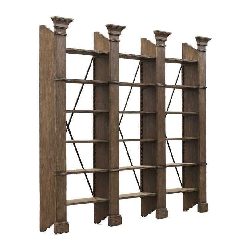 Стеллаж книжный XAVIER TRIPLE BOOKSHELFСтеллажи<br>Открытый книжный стеллаж с точеными стойками в форме колонн. Конечно, идеально на нем будут смотреться томики Софокла и Аристотеля, но это уже, как говорится, дело вкуса. А еще этот стеллаж можно использовать для зонирования пространства.<br><br>Материал: дерево<br><br>Material: Дерево<br>Width см: 294<br>Depth см: 39<br>Height см: 239