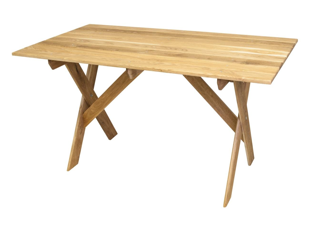 СтолОбеденные столы<br>Стол производится из массива дуба. Проходит термическую обработку и пропитку в экологически чистом масле с содержанием 30% парафина, применяемого в косметической отрасли. Эта технология не дает возможности проникать в древесину атмосферной влаге или прямого попадания воды(дождя). Мебель имеет натуральный цвет с хорошо выраженной структурой. Дополнительно не покрывается никакими красителями или пропитками.&amp;amp;nbsp;<br><br>Material: Дуб<br>Ширина см: 150<br>Высота см: 78<br>Глубина см: 80