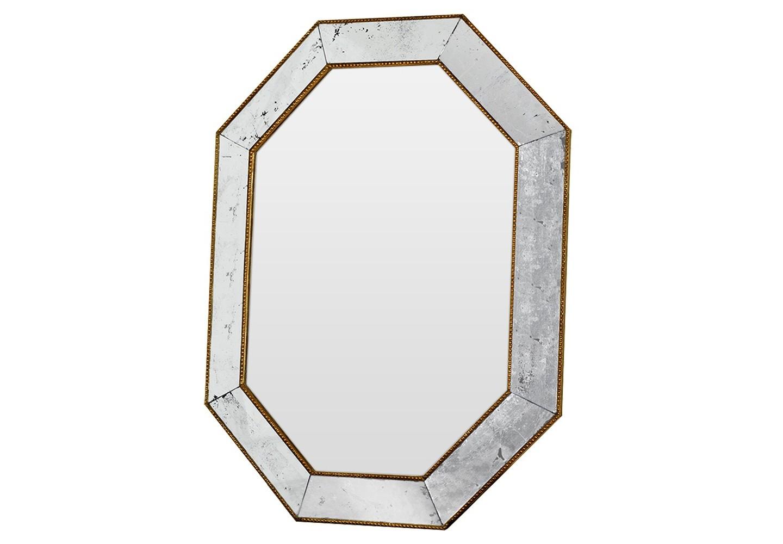 Зеркало Aristocrat goldcantНастенные зеркала<br>Эксклюзивное зеркало ручной работы выполнено в форме роскошного бриллианта с золотой окантовкой. Над его созданием кропотливо трудились руки самых искусных мастеров. Благодаря гармоничному сочетанию классического и поталевого зеркал, обыкновенный предмет интерьера превратился в настоящее произведение искусства. Оно идеально дополнит интерьер прихожей, а также станет центральным элементом в оформлении гостиной или спальни хозяев дома. По контуру рамы идет золотая окантовка.<br><br>Material: Дерево<br>Ширина см: 64.0<br>Высота см: 85.0<br>Глубина см: 5.0
