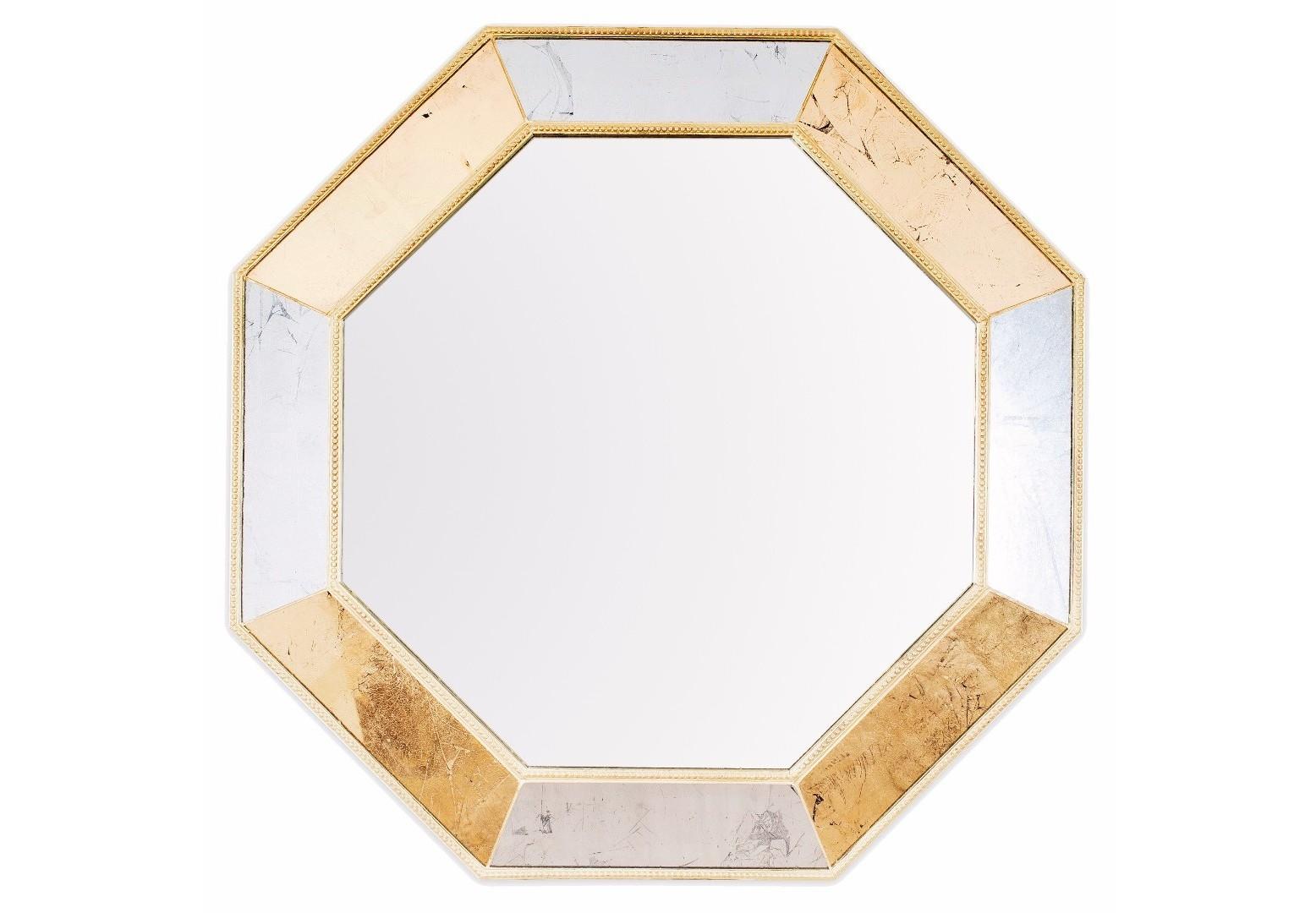 Зеркало King MixНастенные зеркала<br>Эксклюзивное зеркало ручной работы выполнено в форме роскошного золотого бриллианта с золотой состаренной каймой. Над его созданием кропотливо трудились руки самых искусных мастеров. Благодаря гармоничному сочетанию классического, золотого поталевого и серебряного поталевого зеркал обыкновенный предмет интерьера превратился в настоящее произведение искусства. Зеркало идеально дополнит пространство прихожей, а также станет центральным элементом в оформлении гостиной или спальни хозяев дома. По контуру рамы идет золотая состаренная окантовка.&amp;lt;div&amp;gt;&amp;lt;br&amp;gt;&amp;lt;/div&amp;gt;&amp;lt;div&amp;gt;Материал: массив дерева, поталевое зеркало, классическое зеркало.&amp;lt;br&amp;gt;&amp;lt;/div&amp;gt;<br><br>Material: Дерево<br>Ширина см: 64.0<br>Высота см: 64.0<br>Глубина см: 5.0