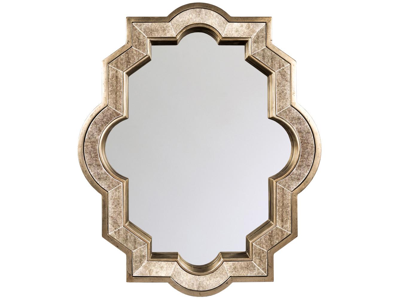 Настенное зеркало «Каньон»Настенные зеркала<br>Зеркало &amp;quot;Каньон&amp;quot; представляет собой греческую классику, изложенную старинным венецианским методом: слой амальгамы, распространяется на всю поверхность, включая раму. Глубокая орнаментальная рама задает отражениям эффект объема, а просторный размер афиширует интерьерную легкость и свет. Поверхность рамы слегка состарена, что придает ей винтажное обаяние и уют. Зеркальное полотно покрыто серебряной амальгамой, обладает идеальной поверхностью.<br><br>Material: МДФ<br>Ширина см: 92.0<br>Высота см: 110.0<br>Глубина см: 7.5